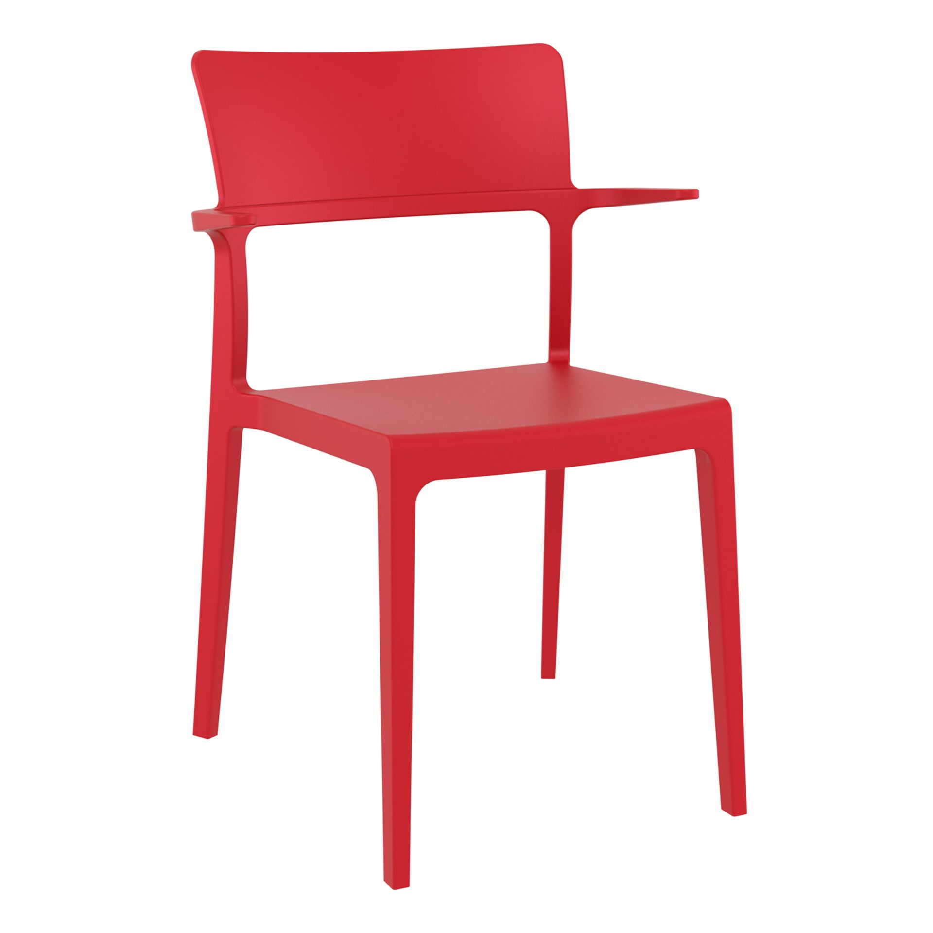 hospitality dining polypropylene plus chair red front side