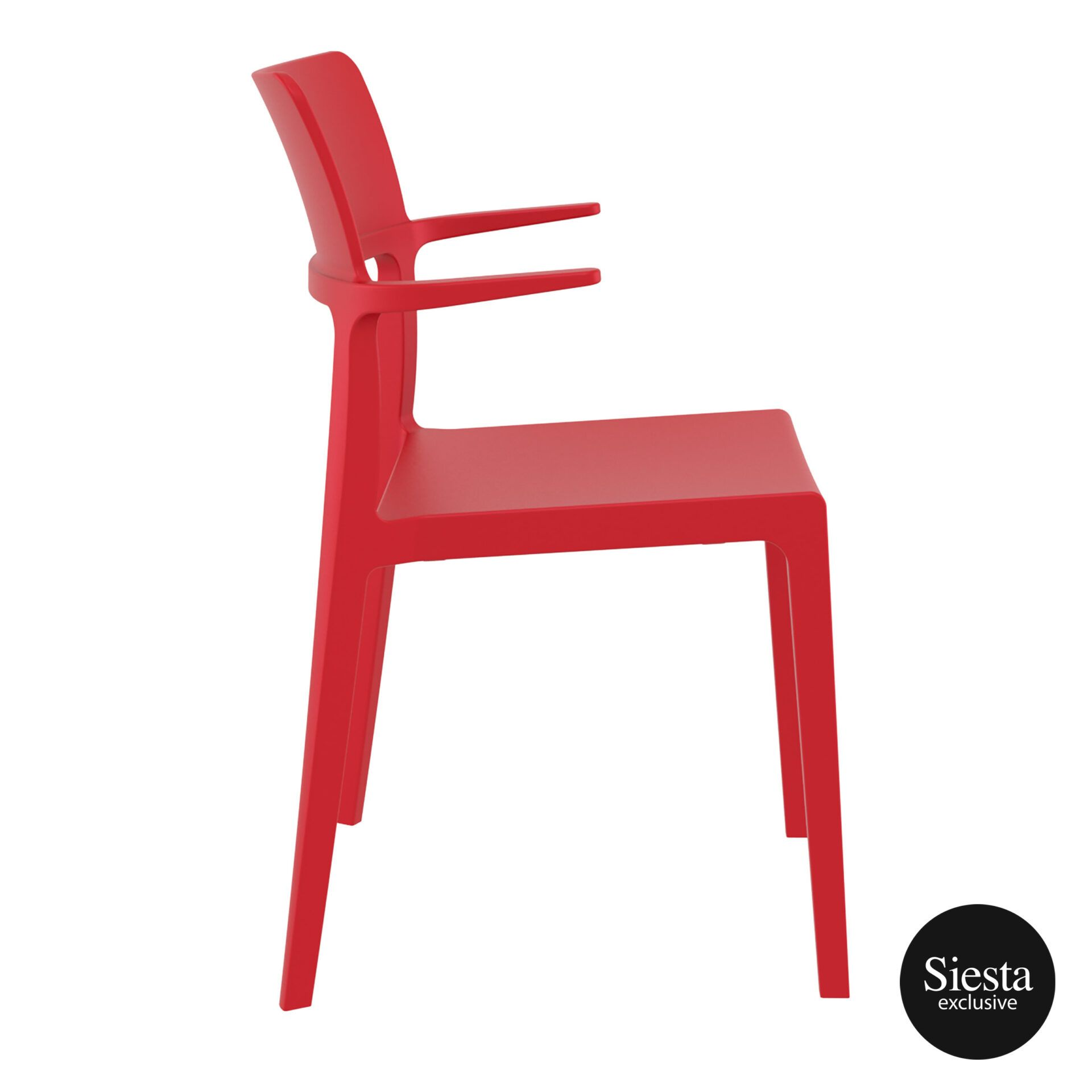 hospitality dining polypropylene plus chair red side 1