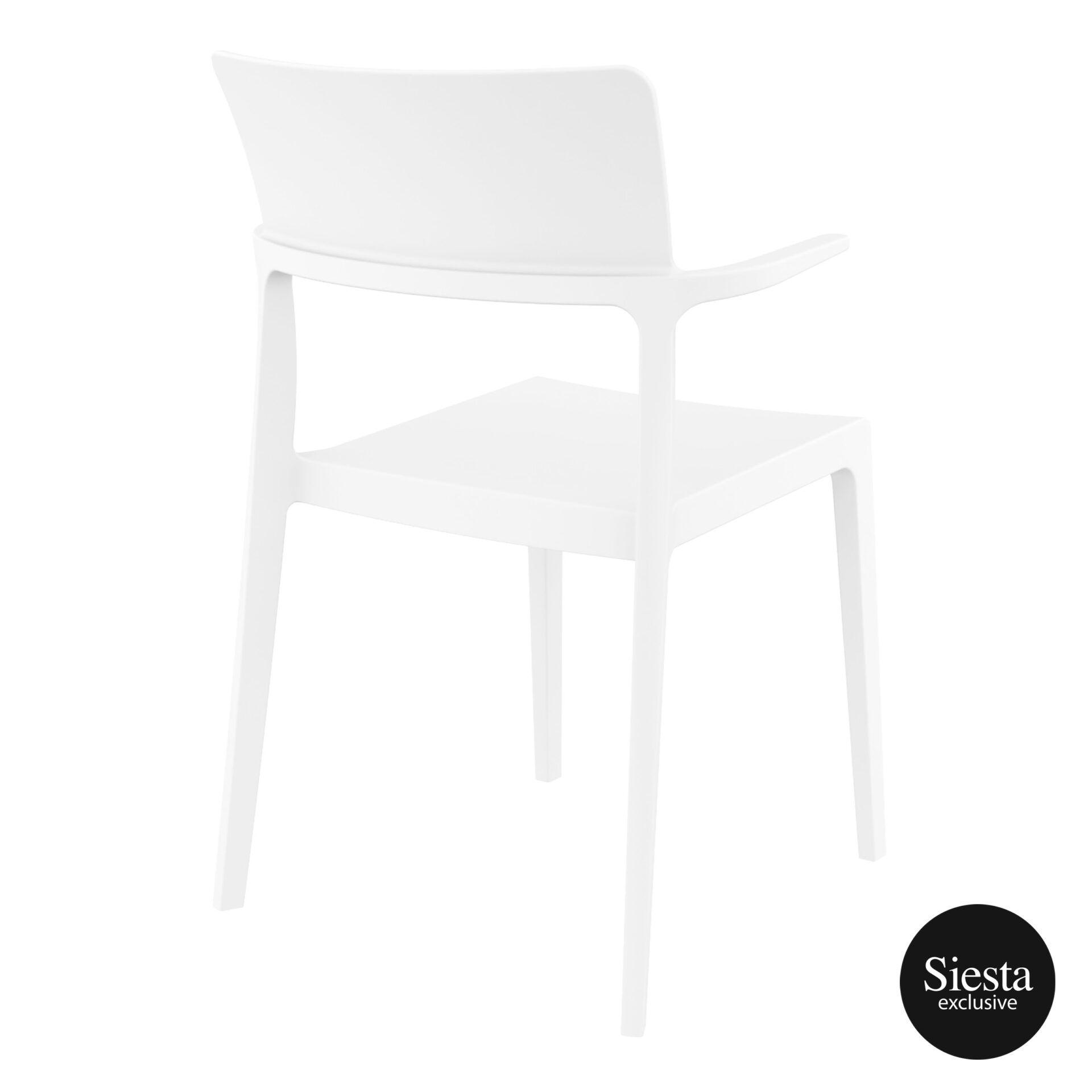 hospitality dining polypropylene plus chair white back side 1