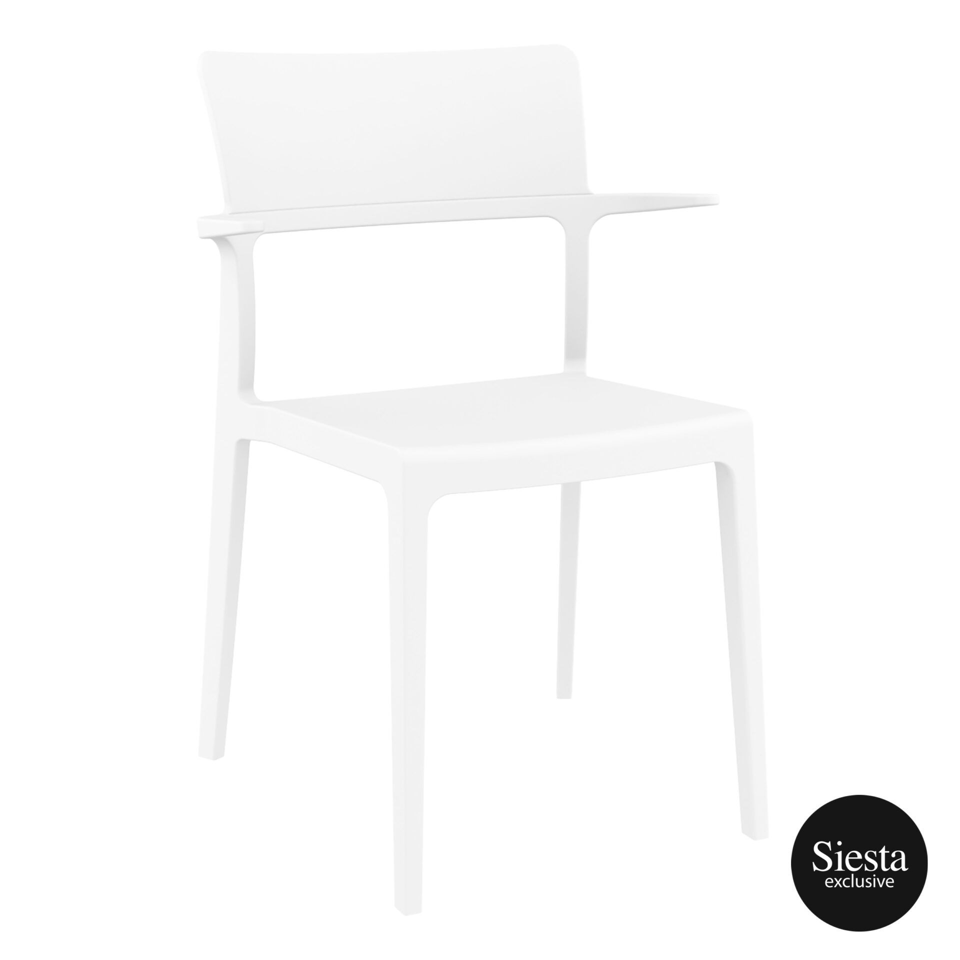 hospitality dining polypropylene plus chair white front side 1