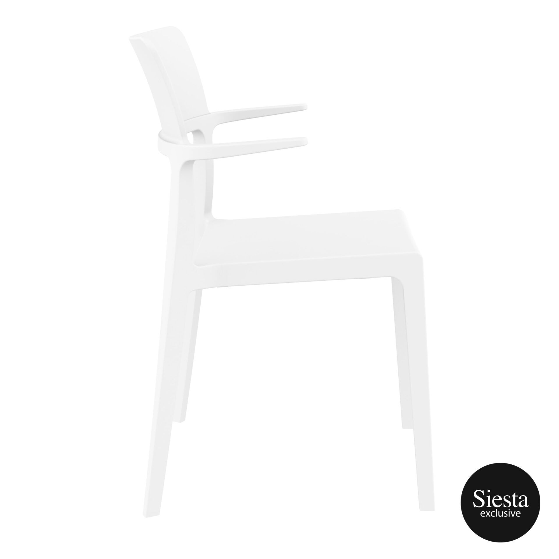 hospitality dining polypropylene plus chair white side 1