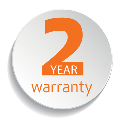 A two year commercial warranty