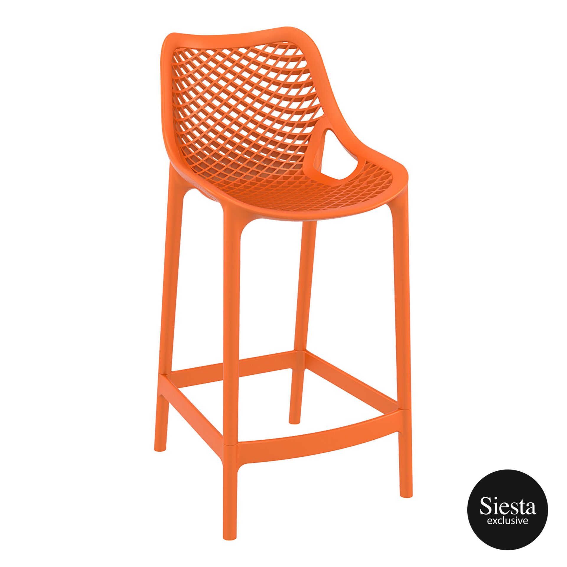 original siesta air barstool 65 orange front side 1