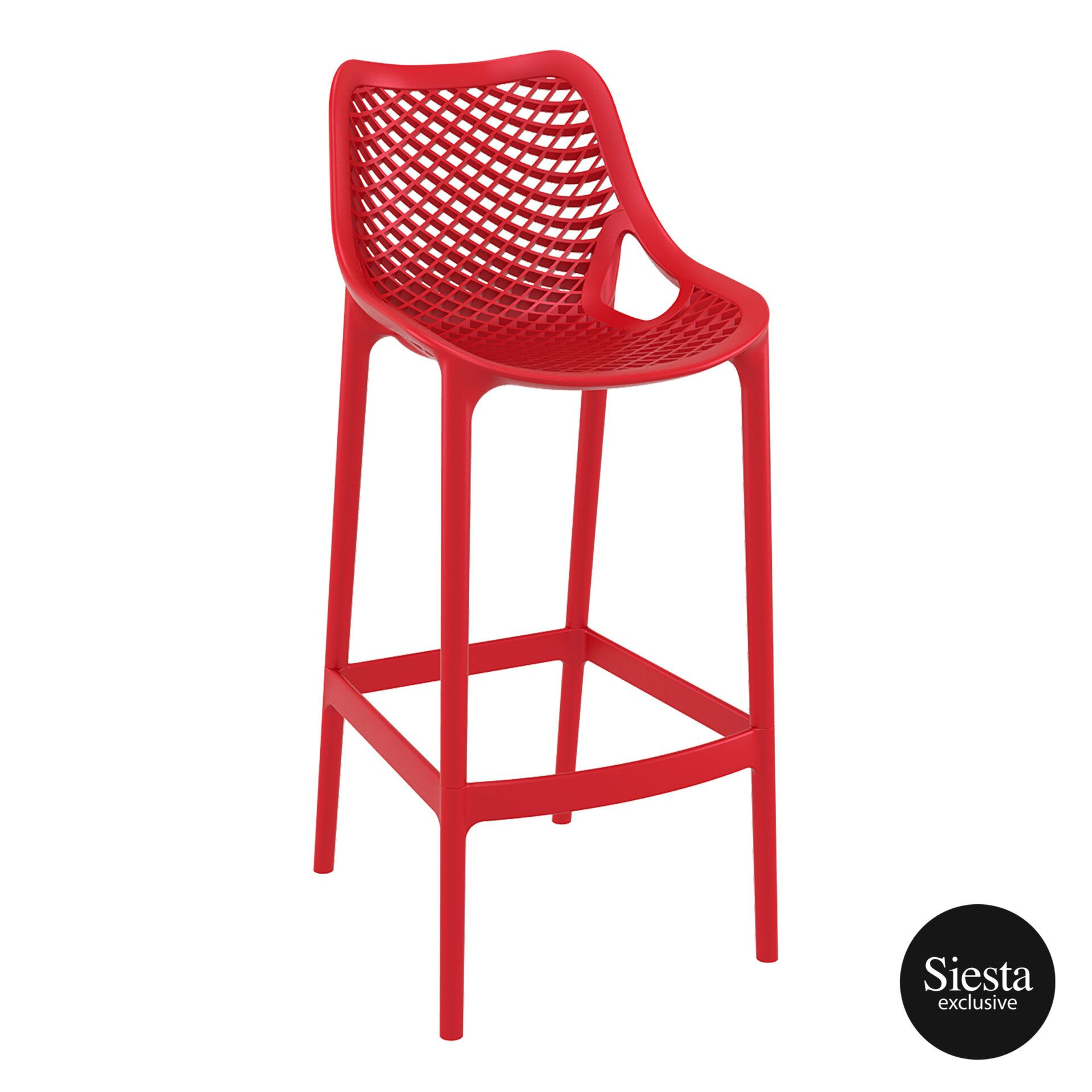 original siesta air barstool 75 red front side 1