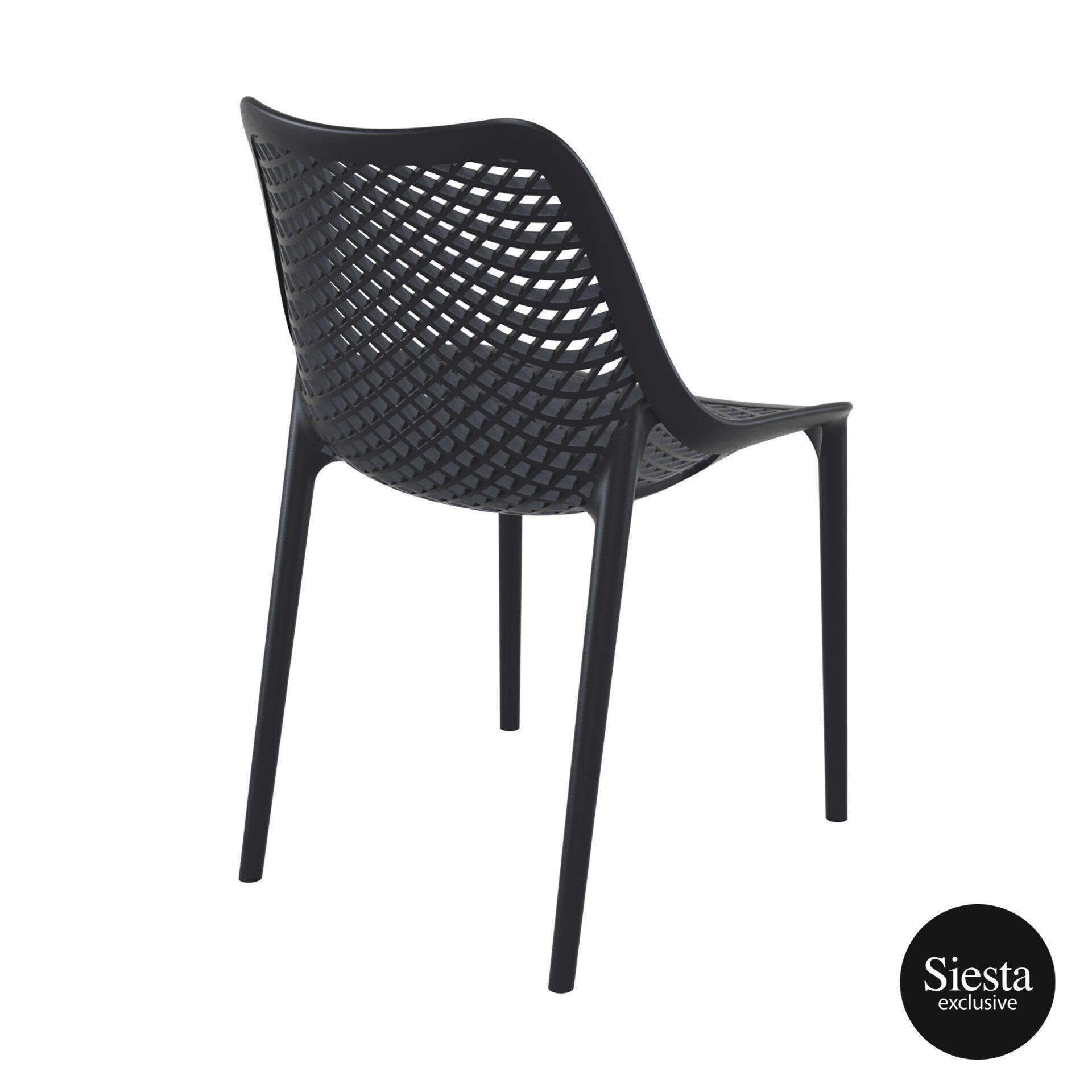 original siesta air chair black back side 1