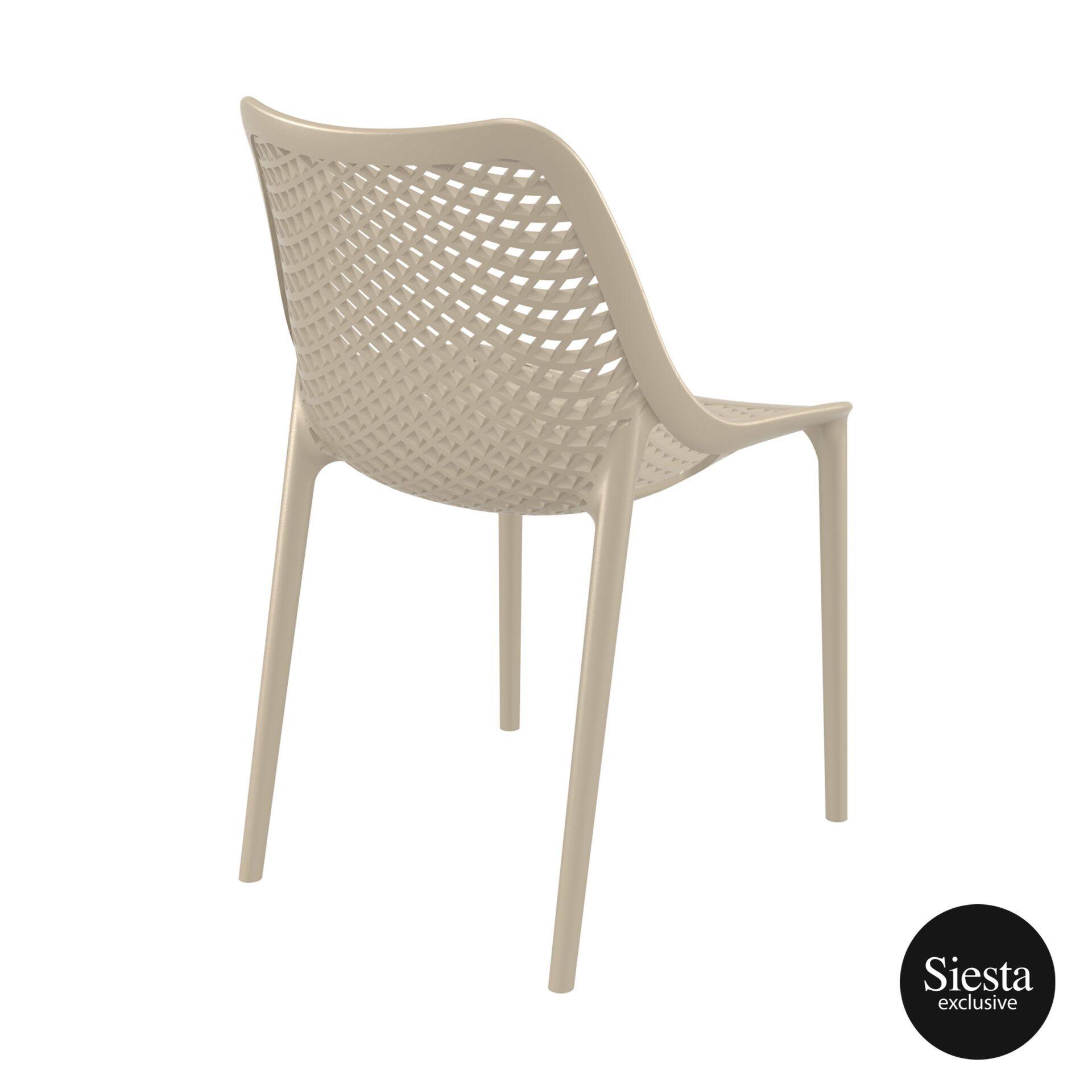 original siesta air chair dovegrey back side 1