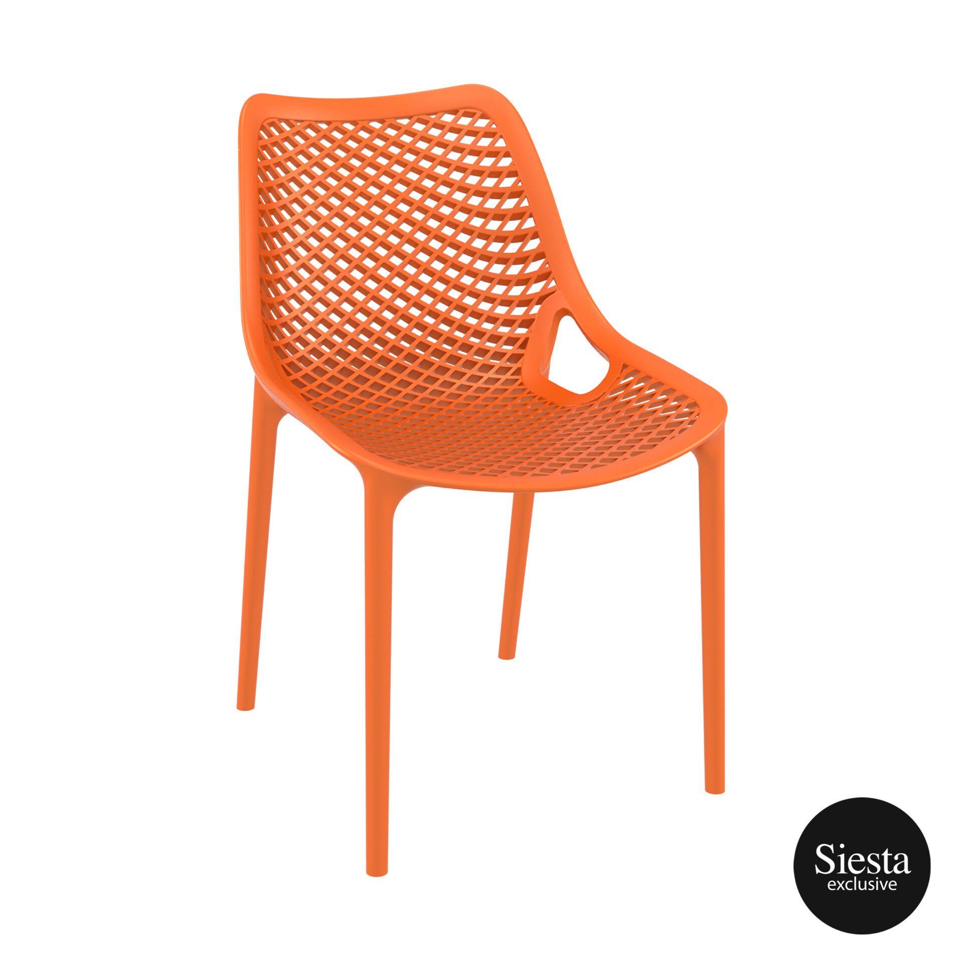original siesta air chair orange front side 1