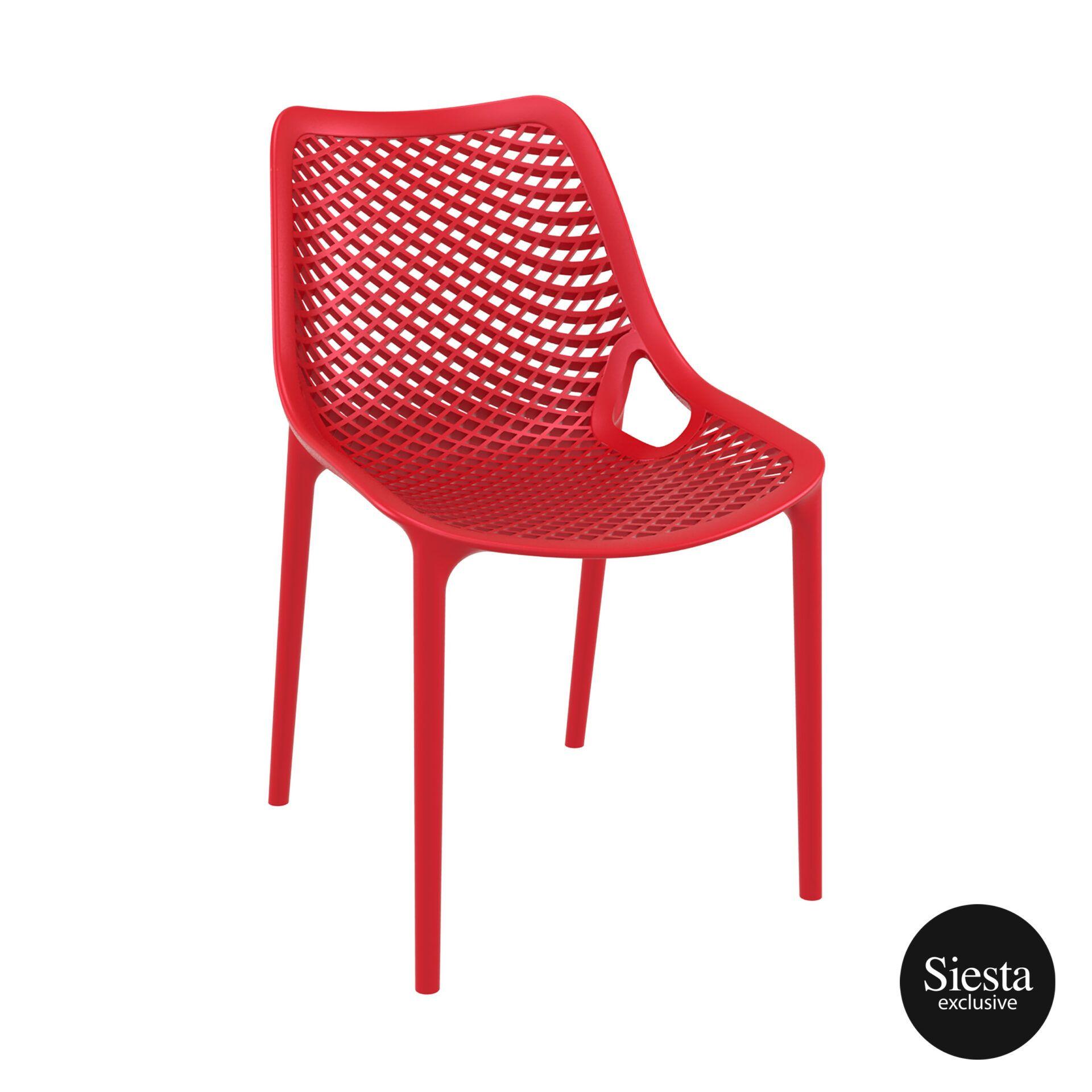 original siesta air chair red front side 1
