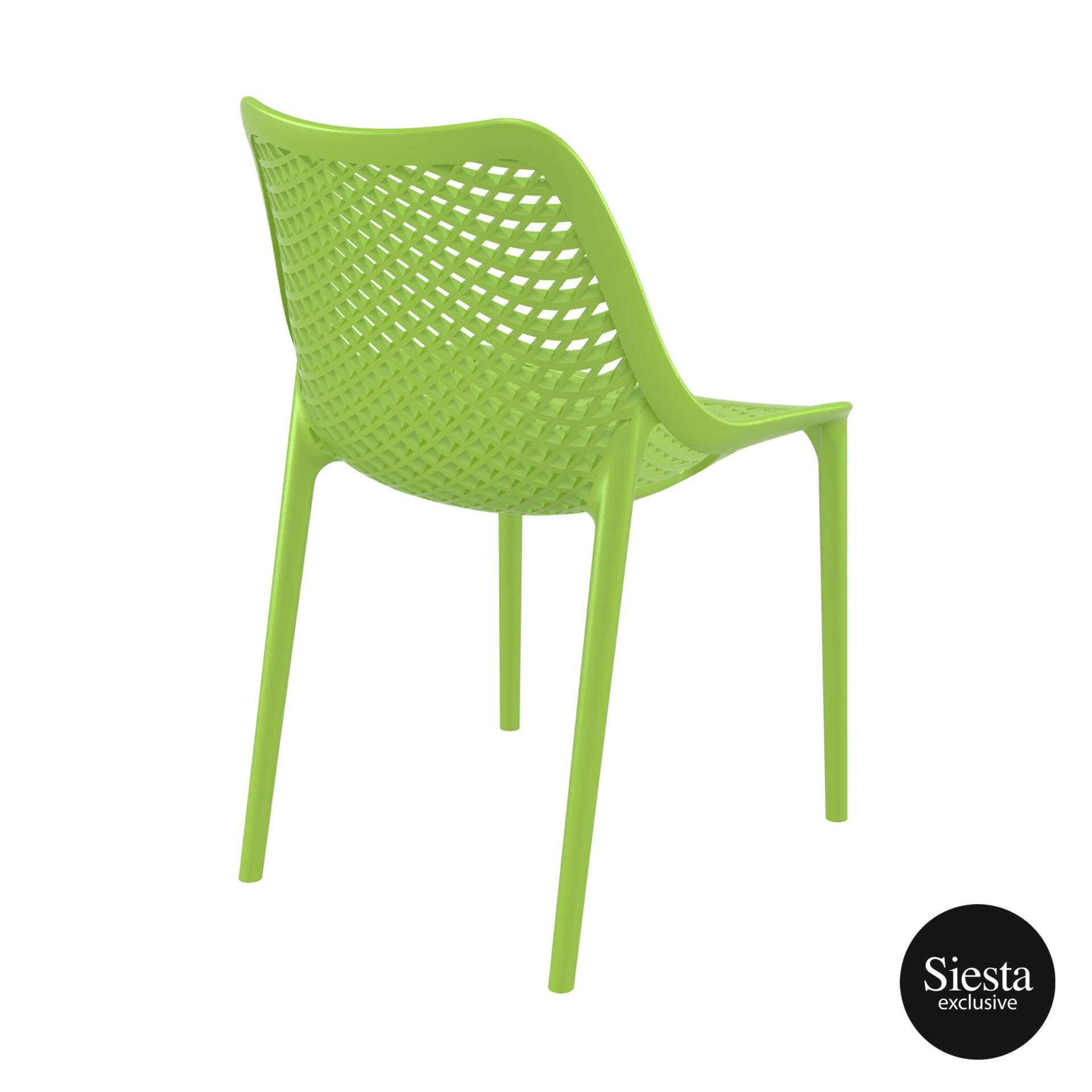 original siesta air chair tropical green back side 1