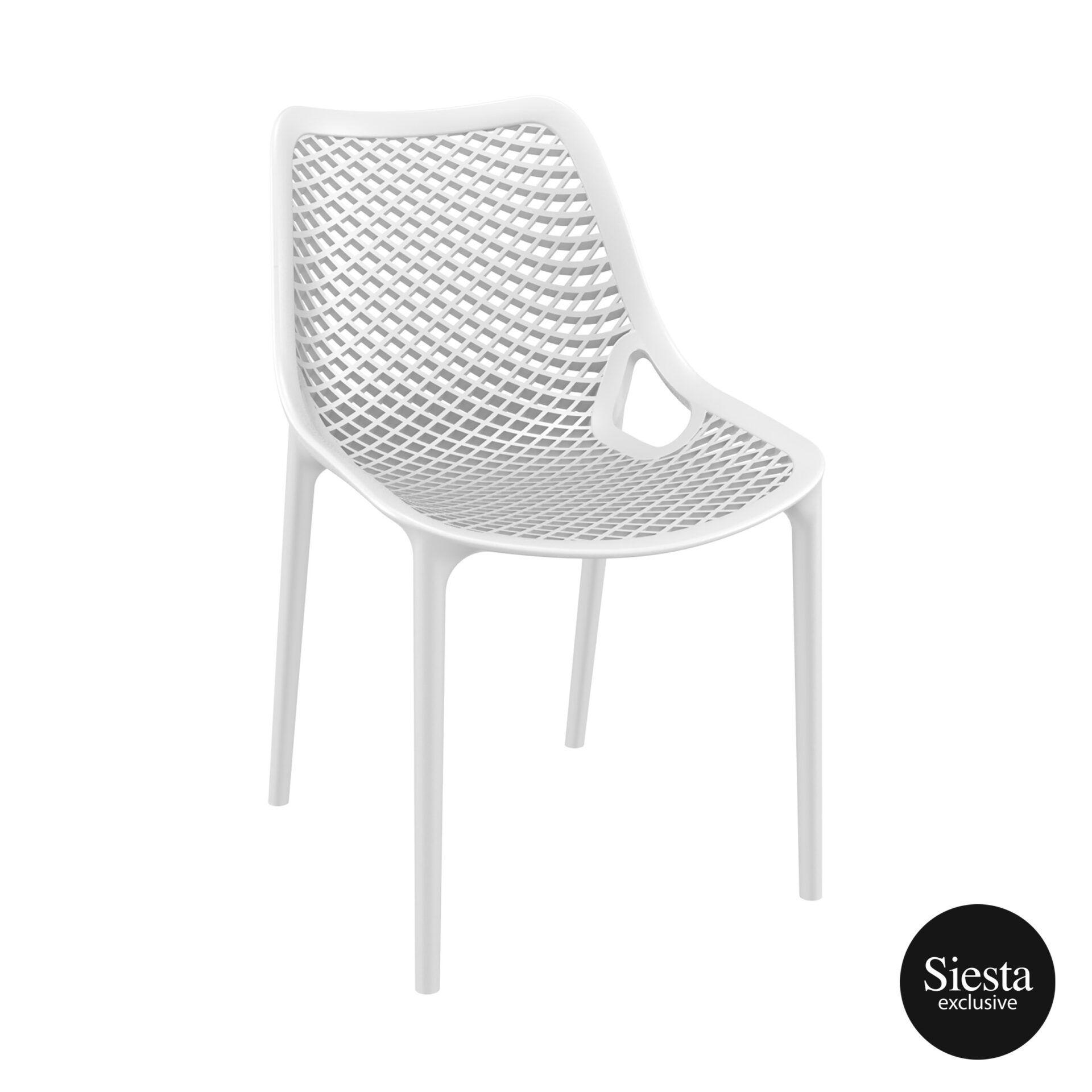 original siesta air chair white front side 1