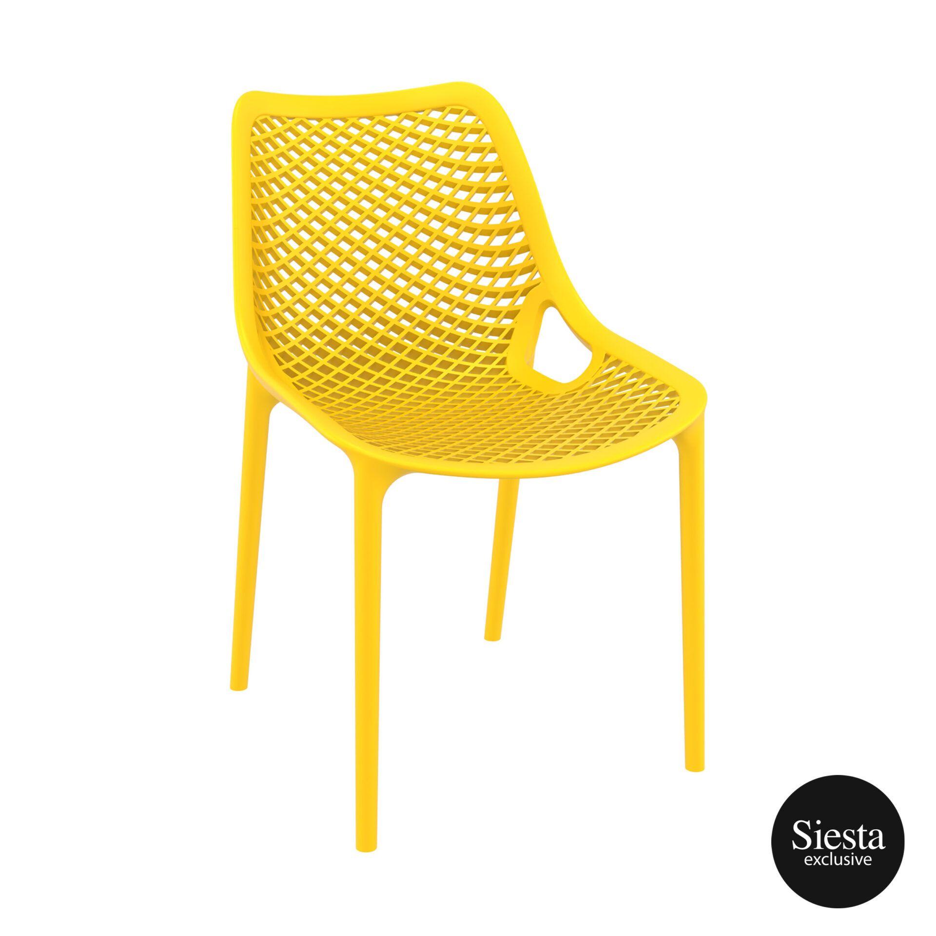 original siesta air chair yellow front side 1