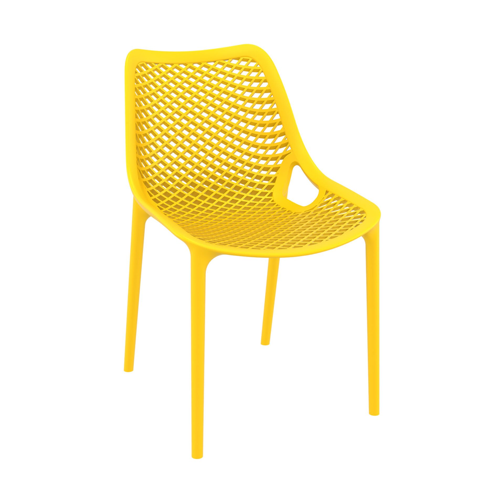 original siesta air chair yellow front side