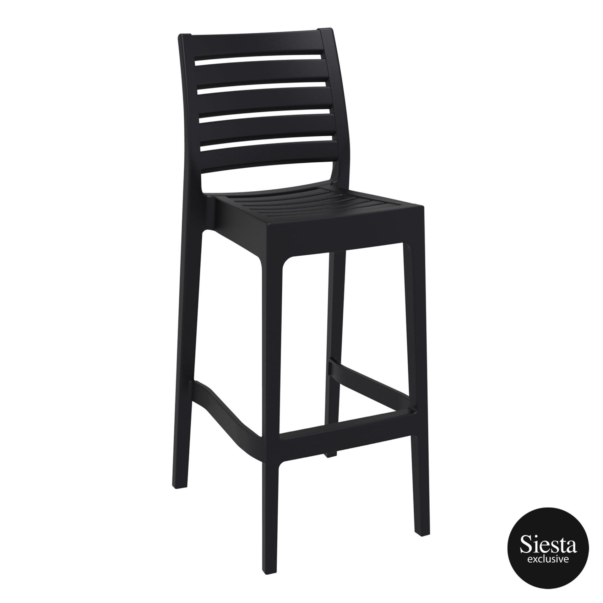 outdoor ares barstool 75 black front side 1