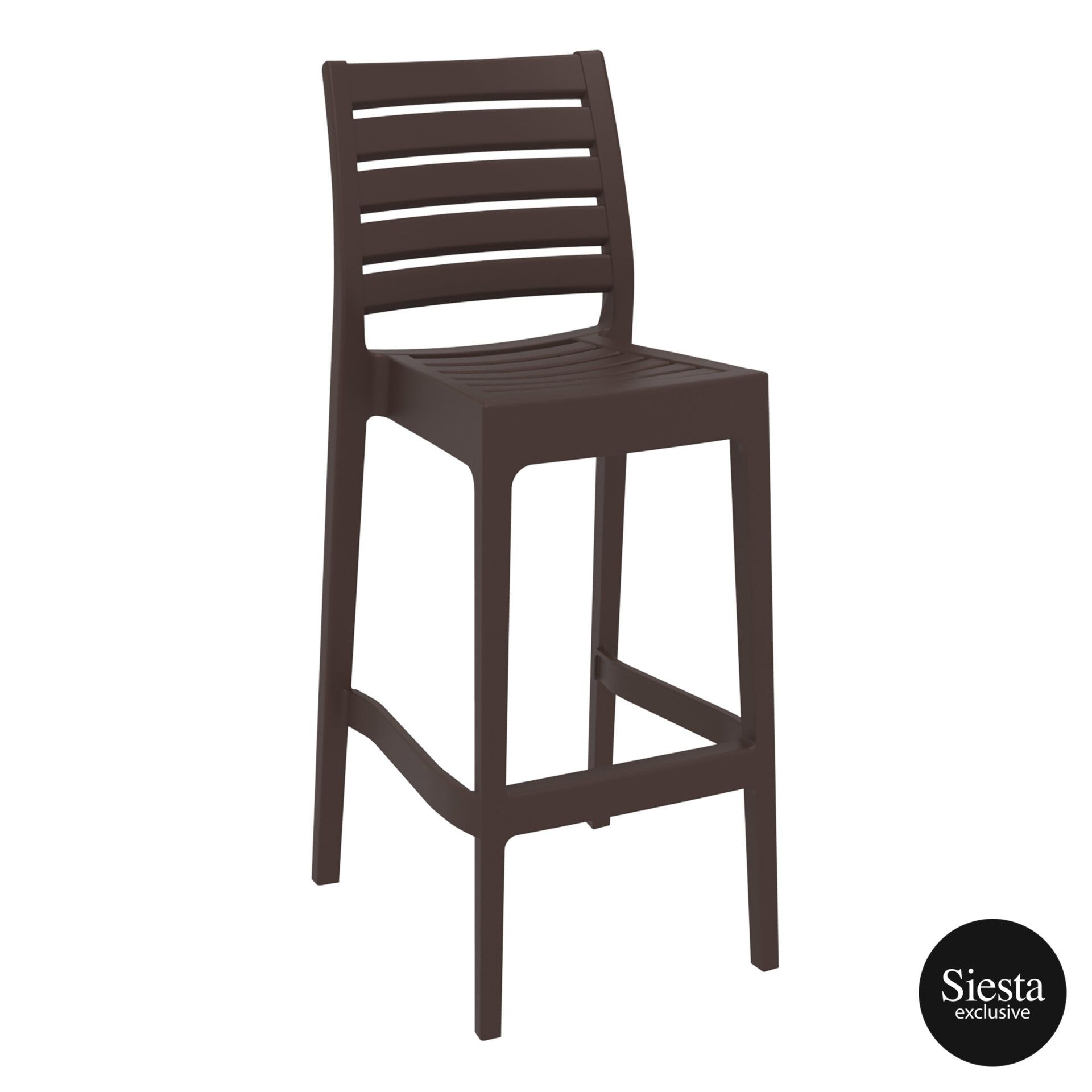 outdoor ares barstool 75 brown front side 1