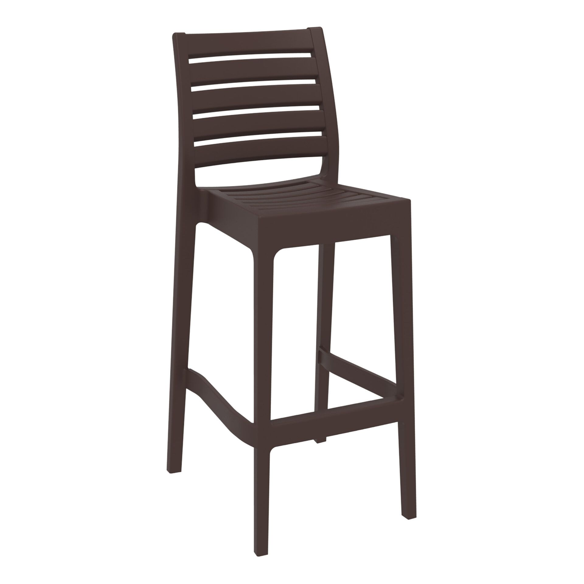 outdoor ares barstool 75 brown front side