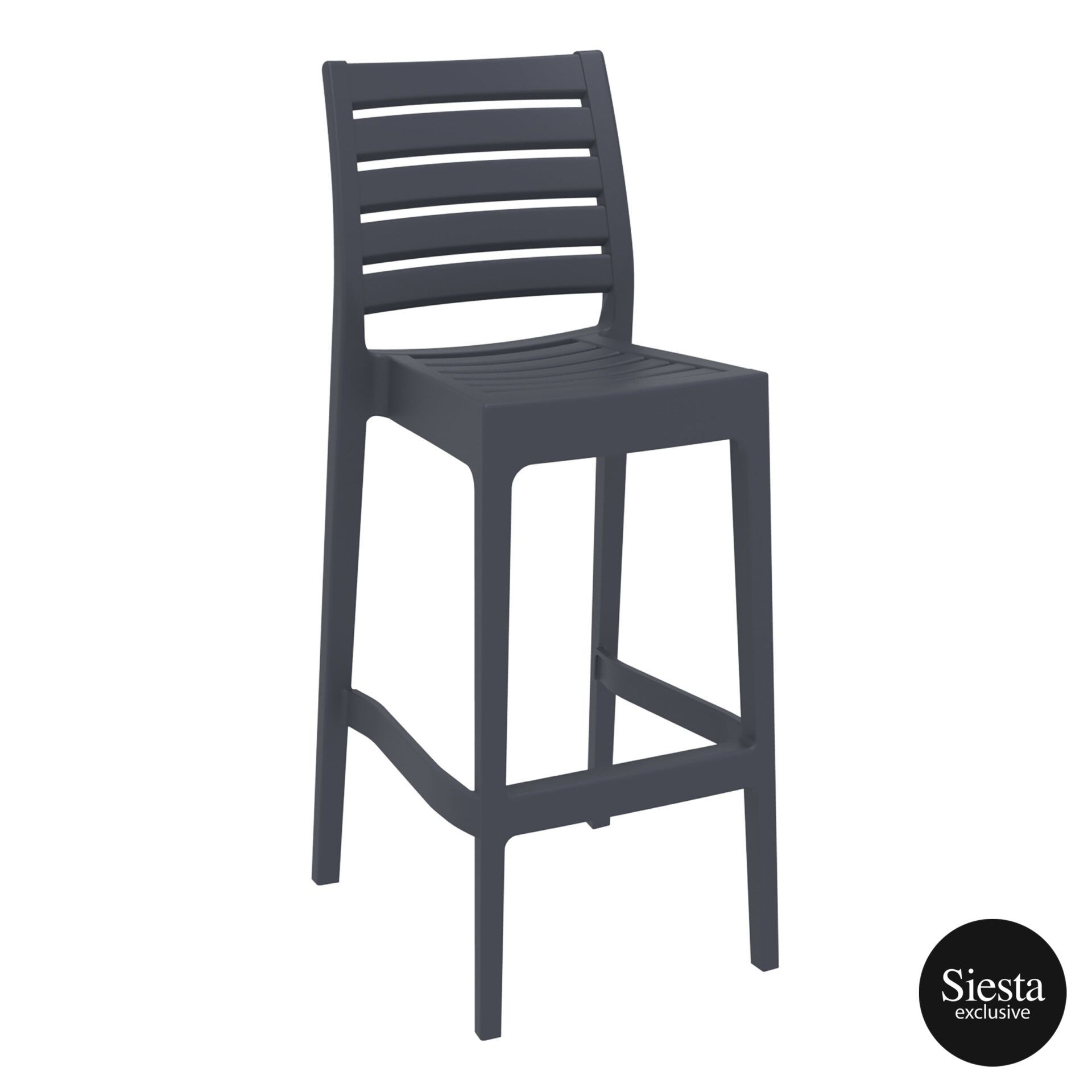 outdoor ares barstool 75 darkgrey front side 1