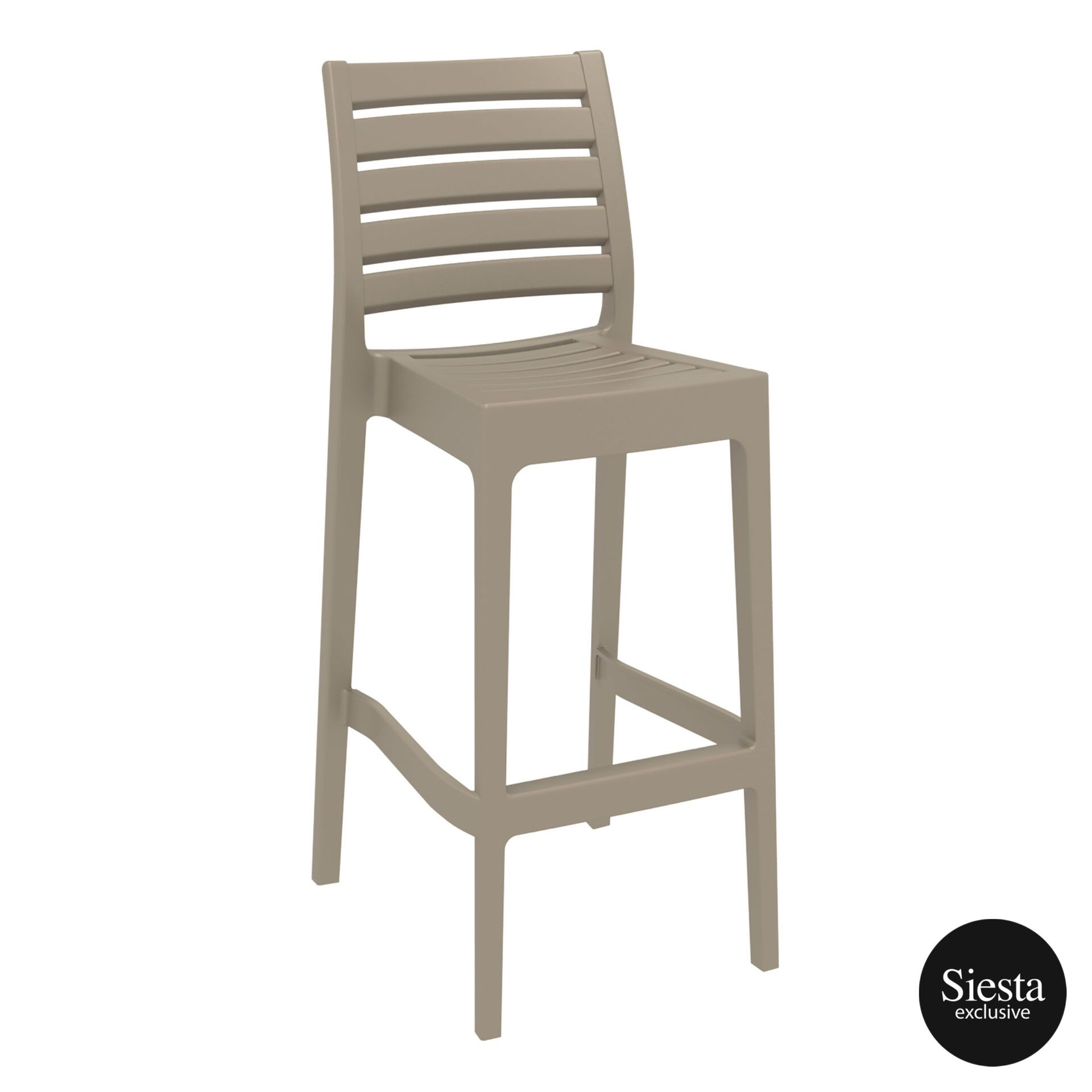 outdoor ares barstool 75 taupe front side 1