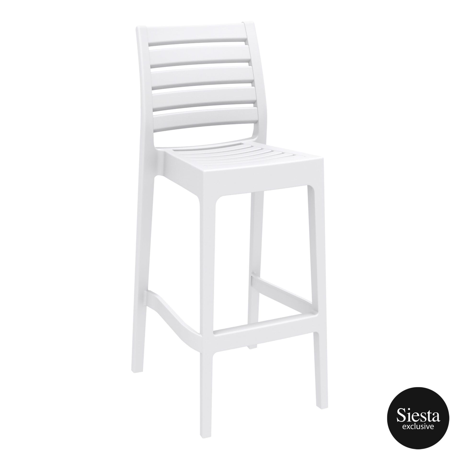 outdoor ares barstool 75 white front side 1