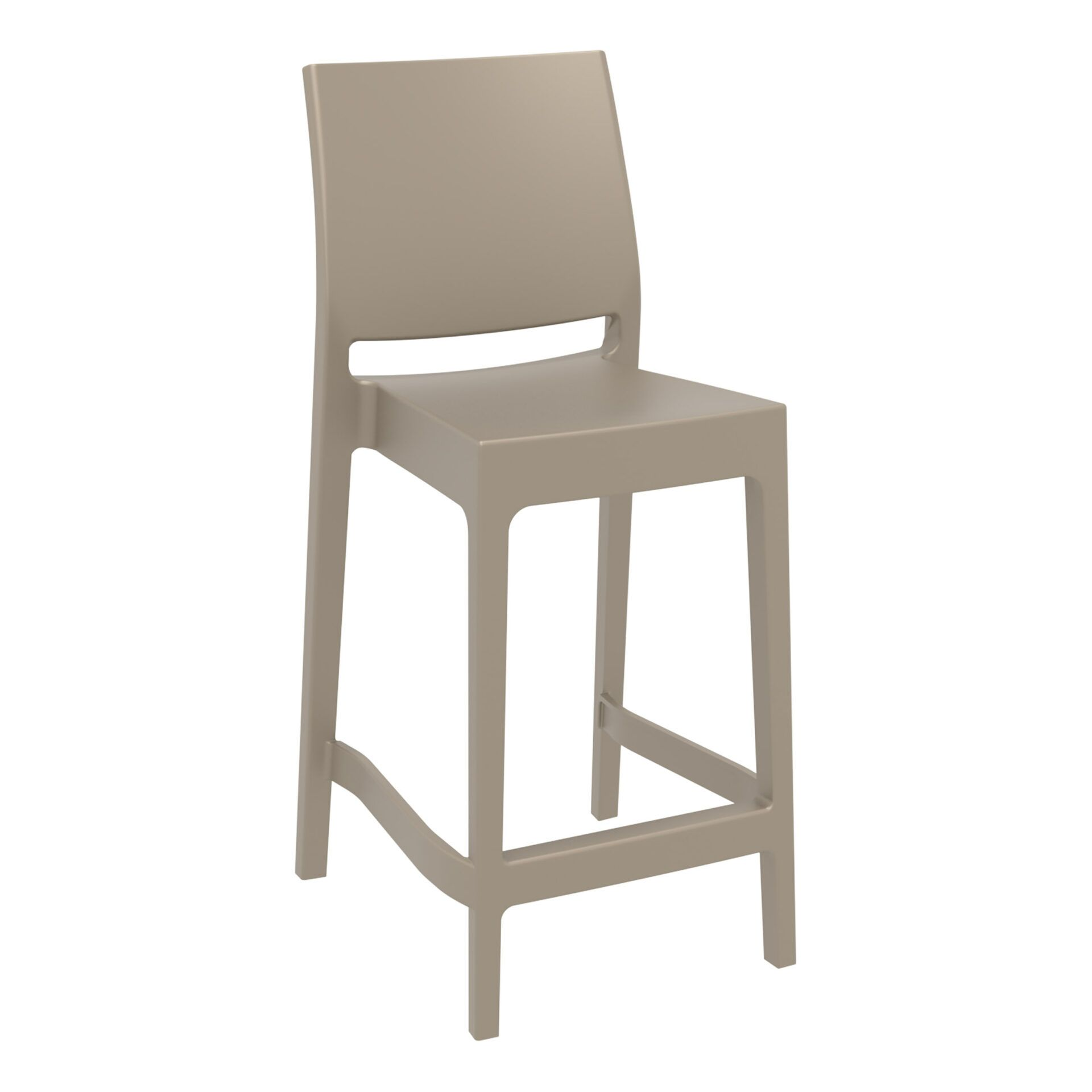 outdoor bar maya barstool 65 taupe front side