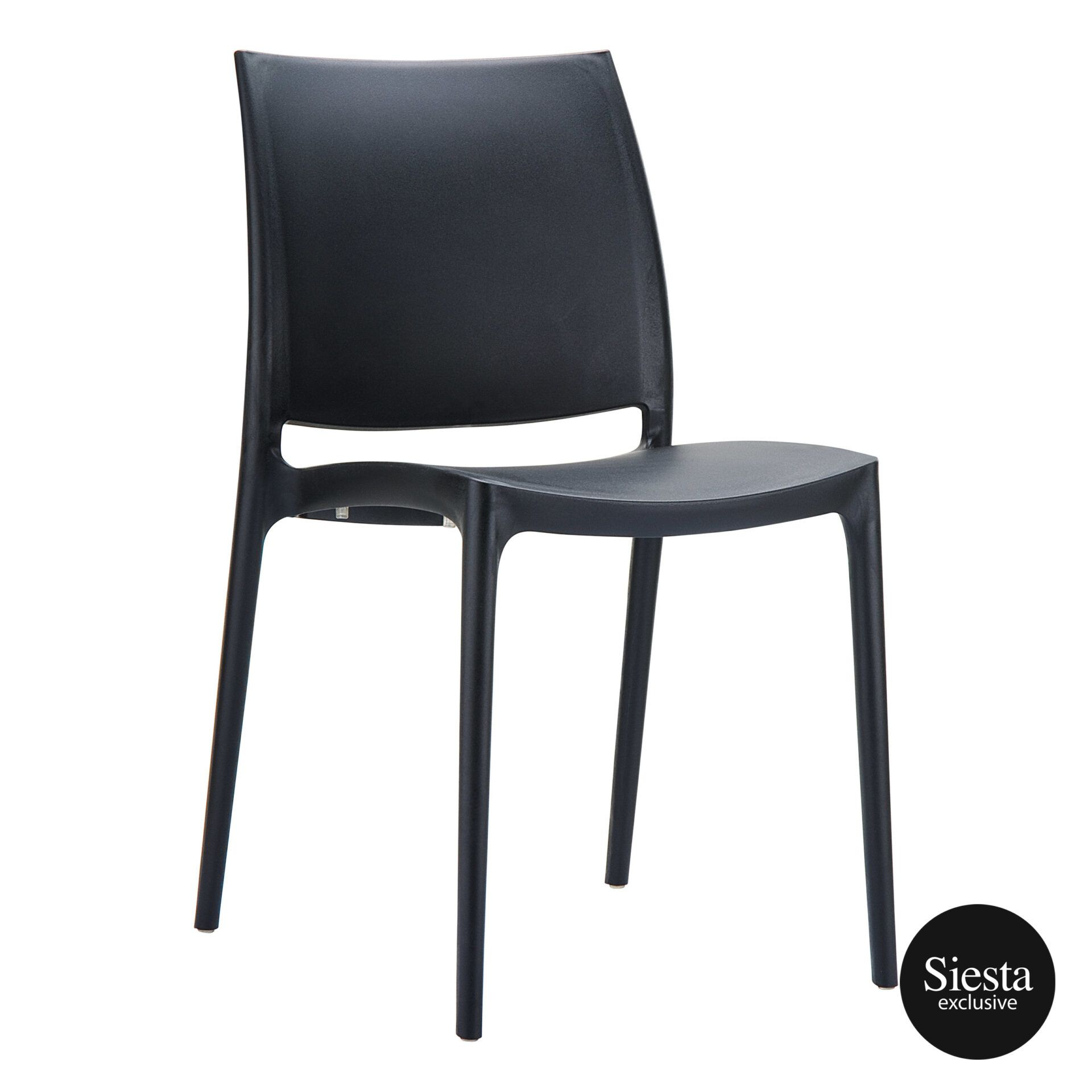 outdoor dining maya chair black front side 1