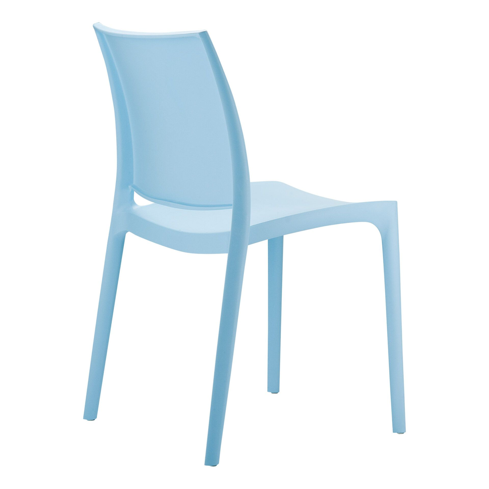 outdoor dining maya chair blue back side