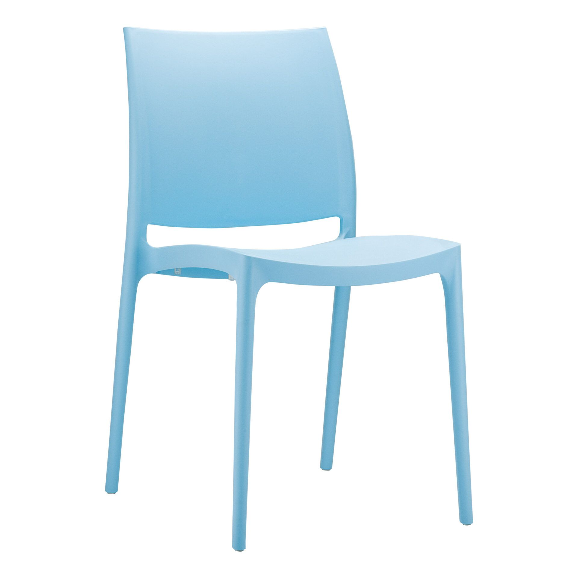 outdoor dining maya chair blue front side