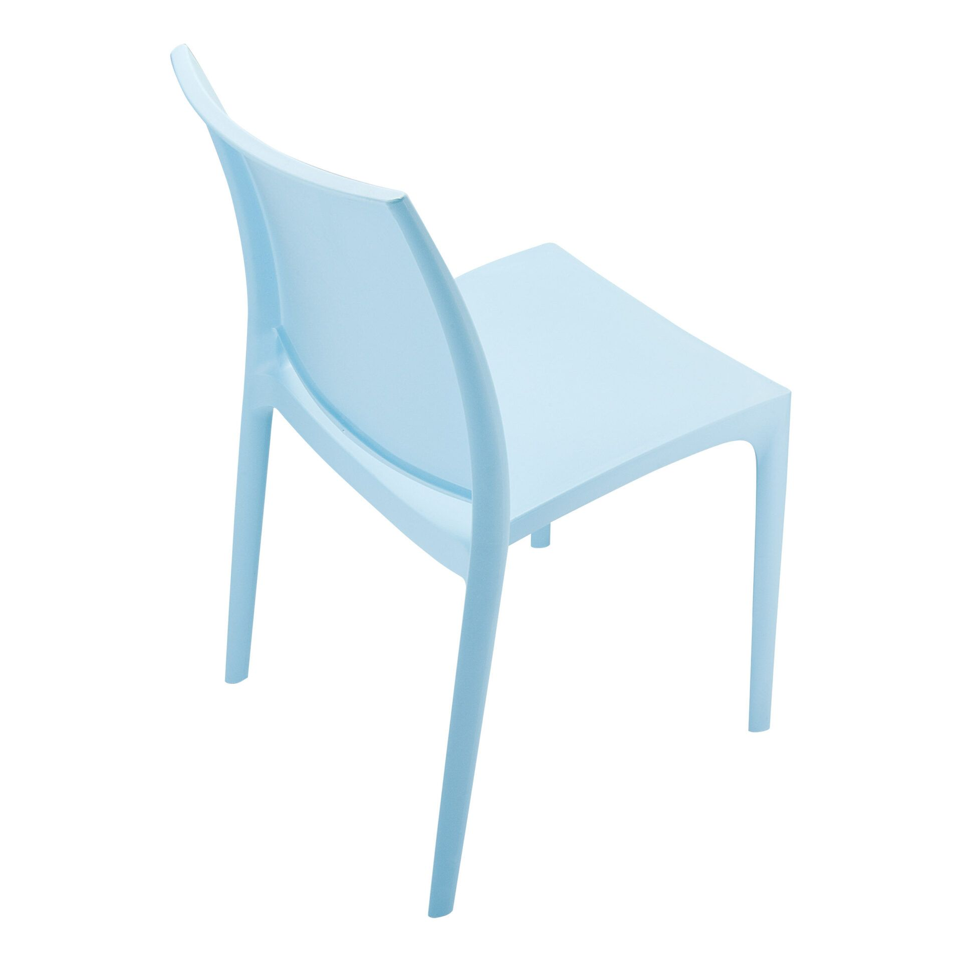 outdoor dining maya chair blue top side