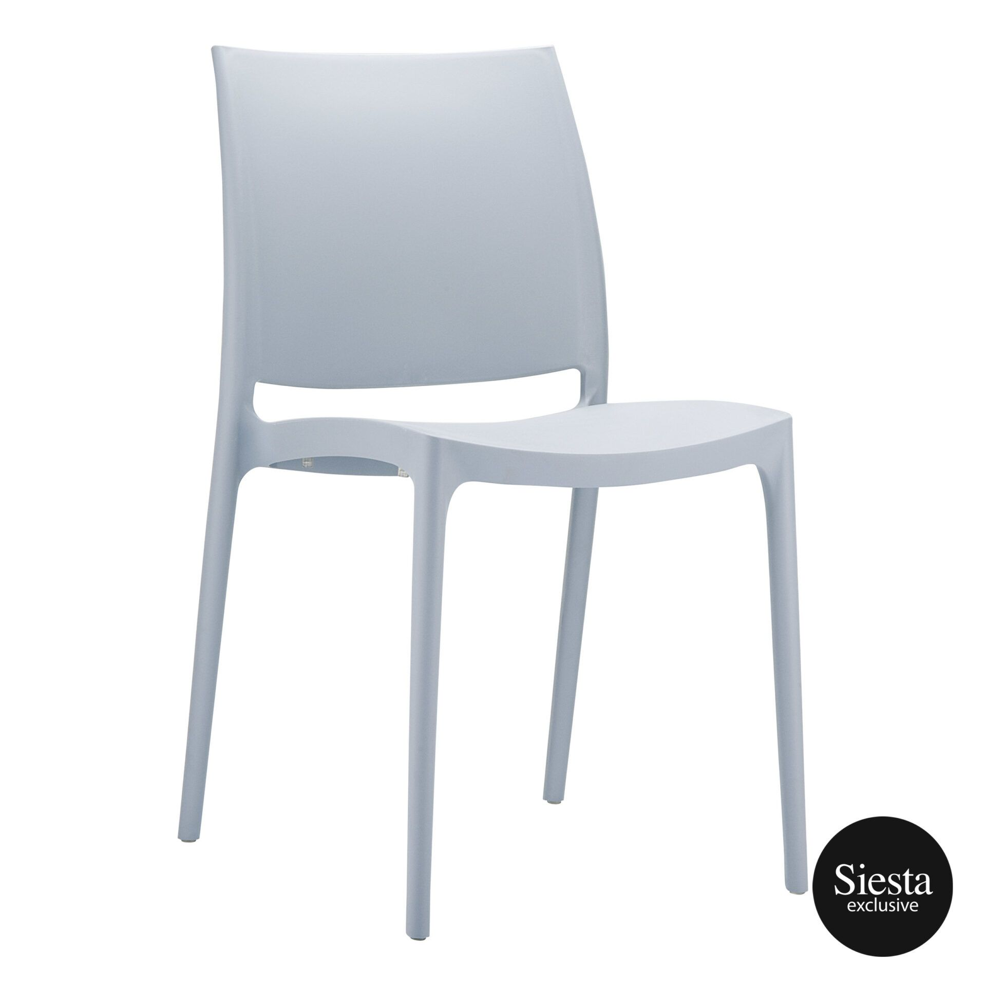 outdoor dining maya chair grey front side 1