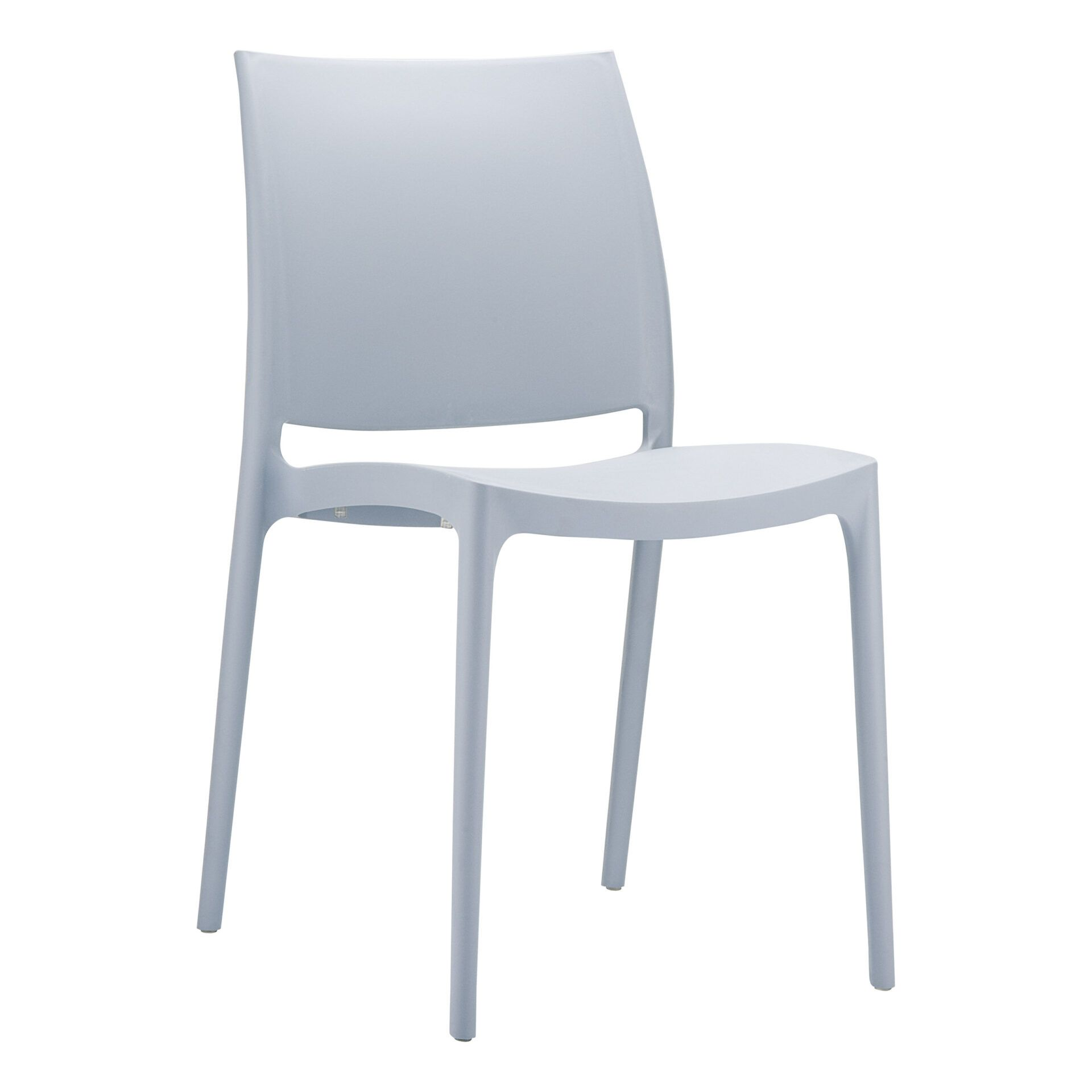 outdoor dining maya chair grey front side