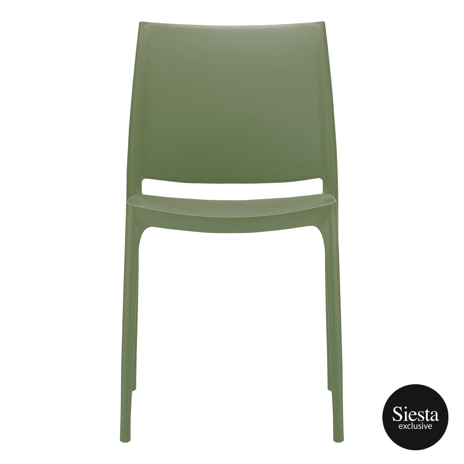 outdoor dining maya chair olive green front 1