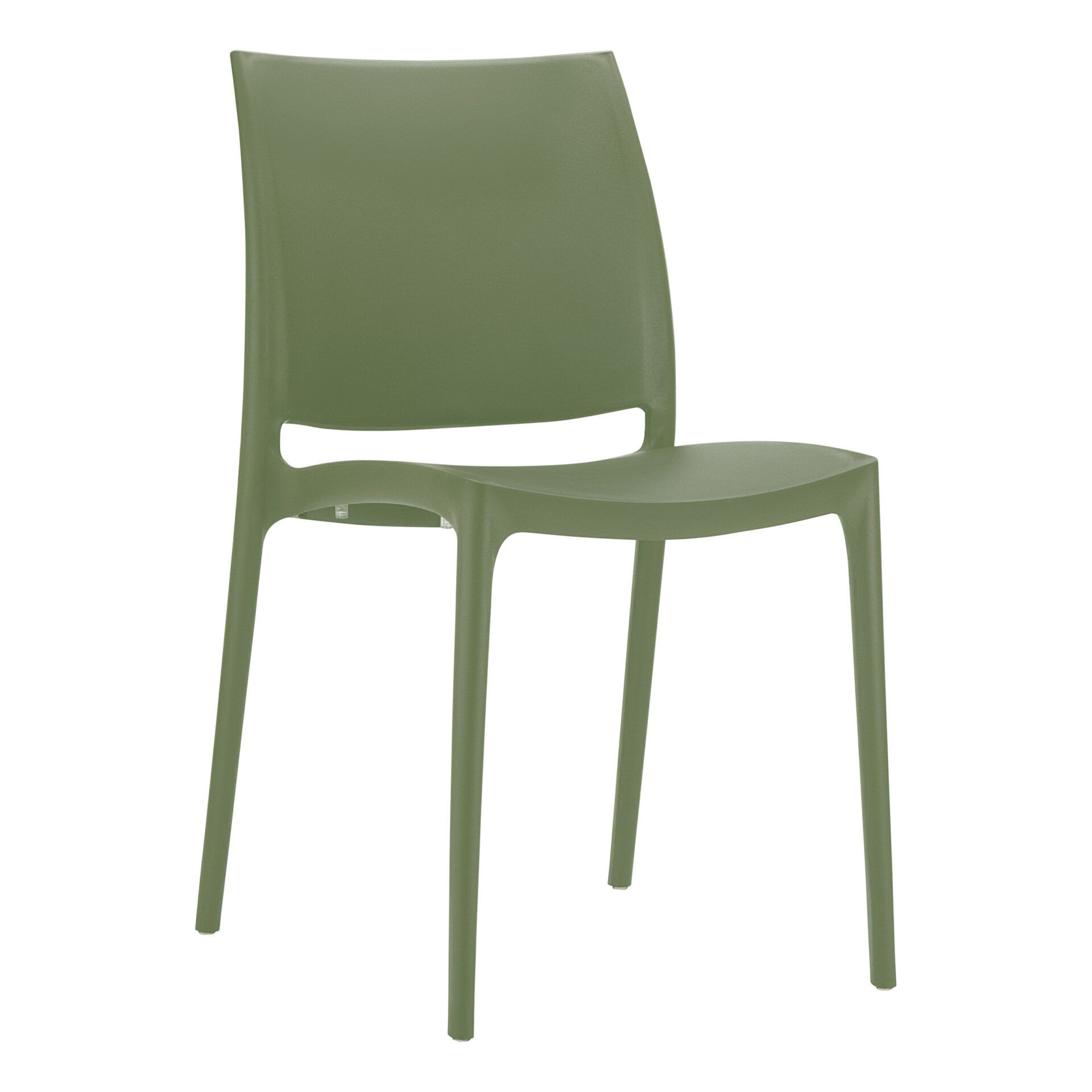 outdoor dining maya chair olive green front side