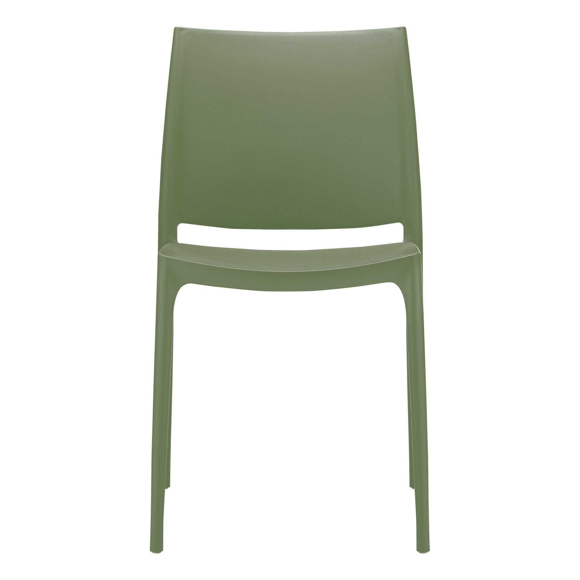 outdoor dining maya chair olive green front