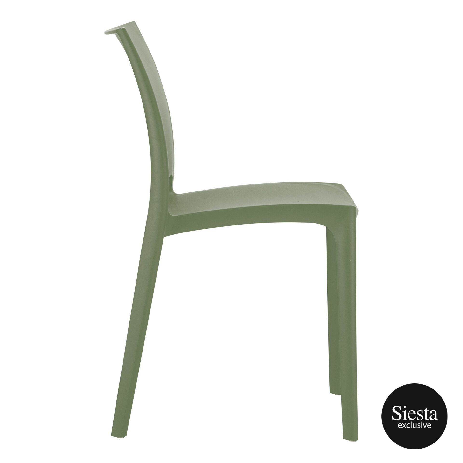 outdoor dining maya chair olive green side 1