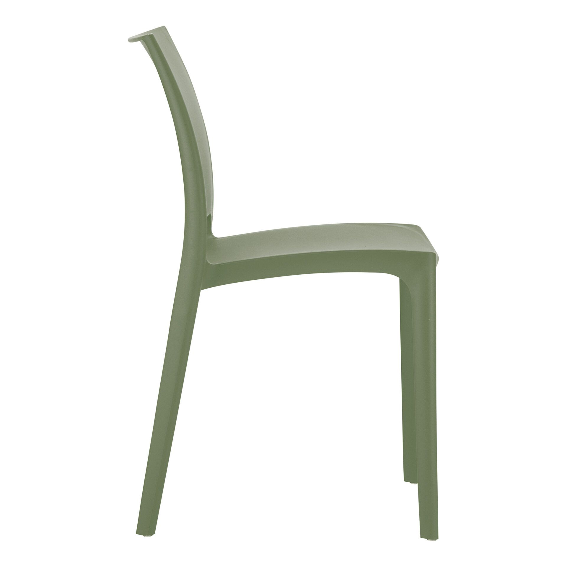 outdoor dining maya chair olive green side