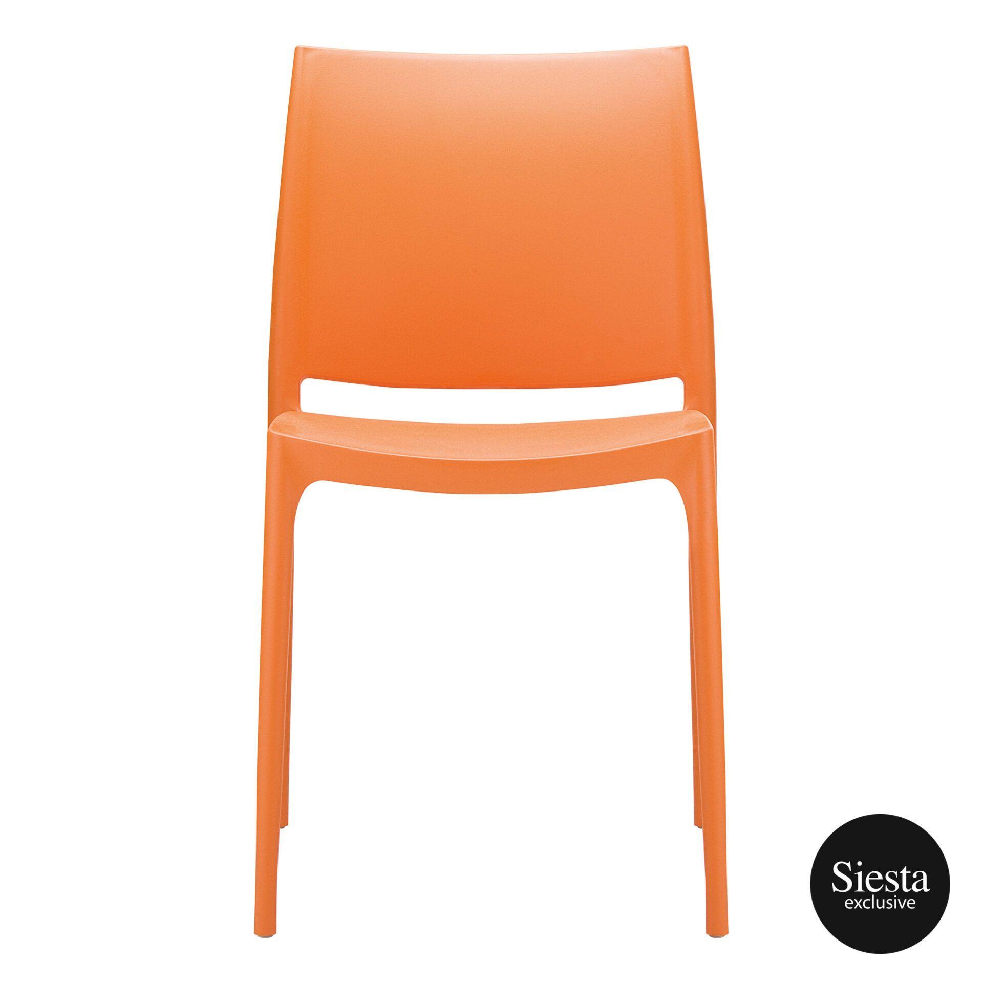 outdoor dining maya chair orange front 1