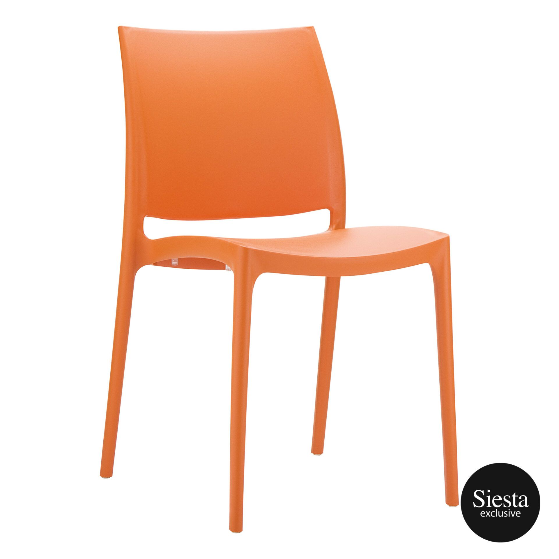 outdoor dining maya chair orange front side 1