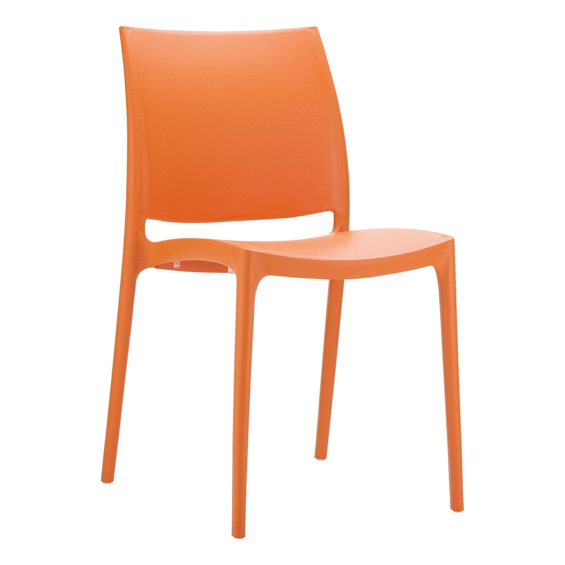 outdoor dining maya chair orange front side