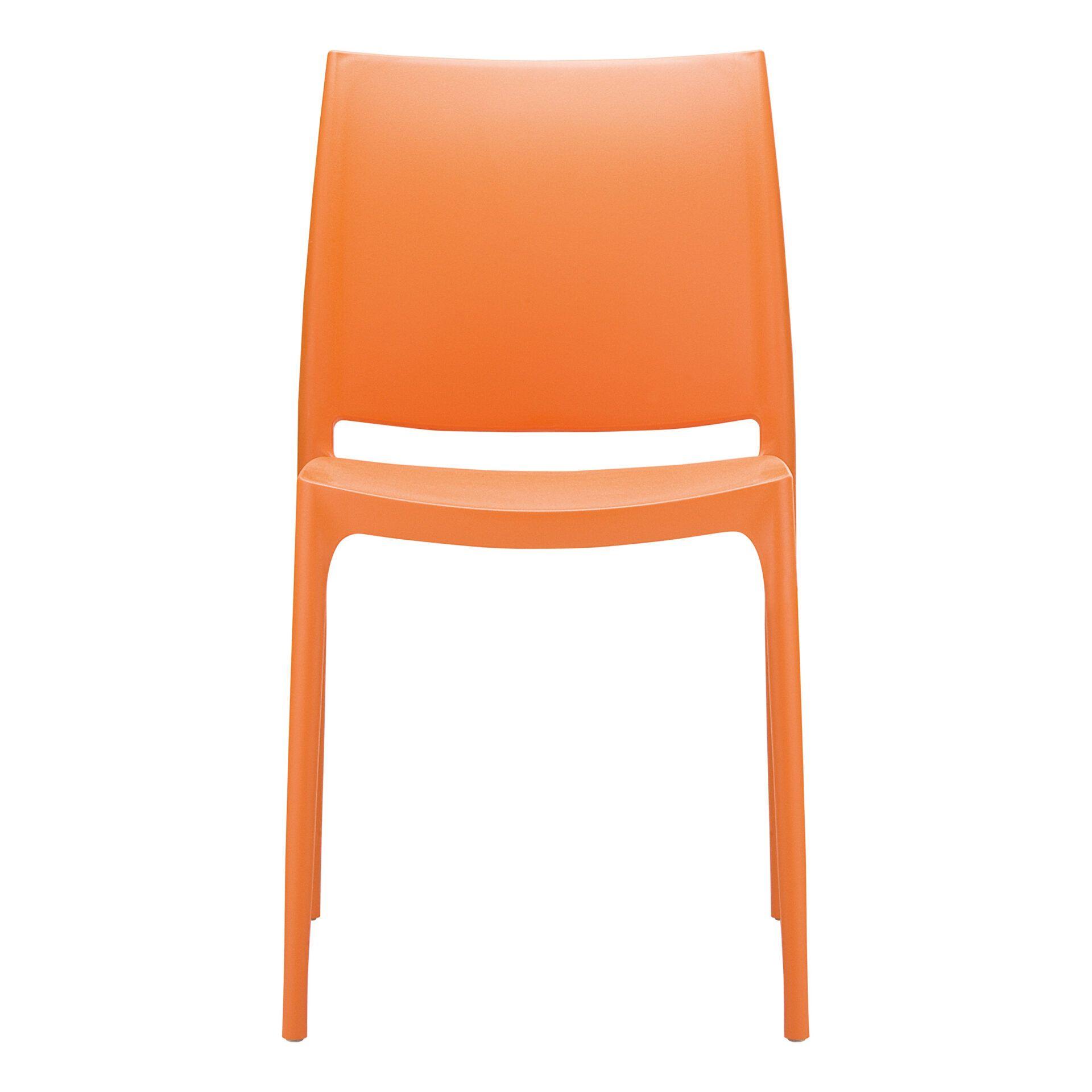 outdoor dining maya chair orange front