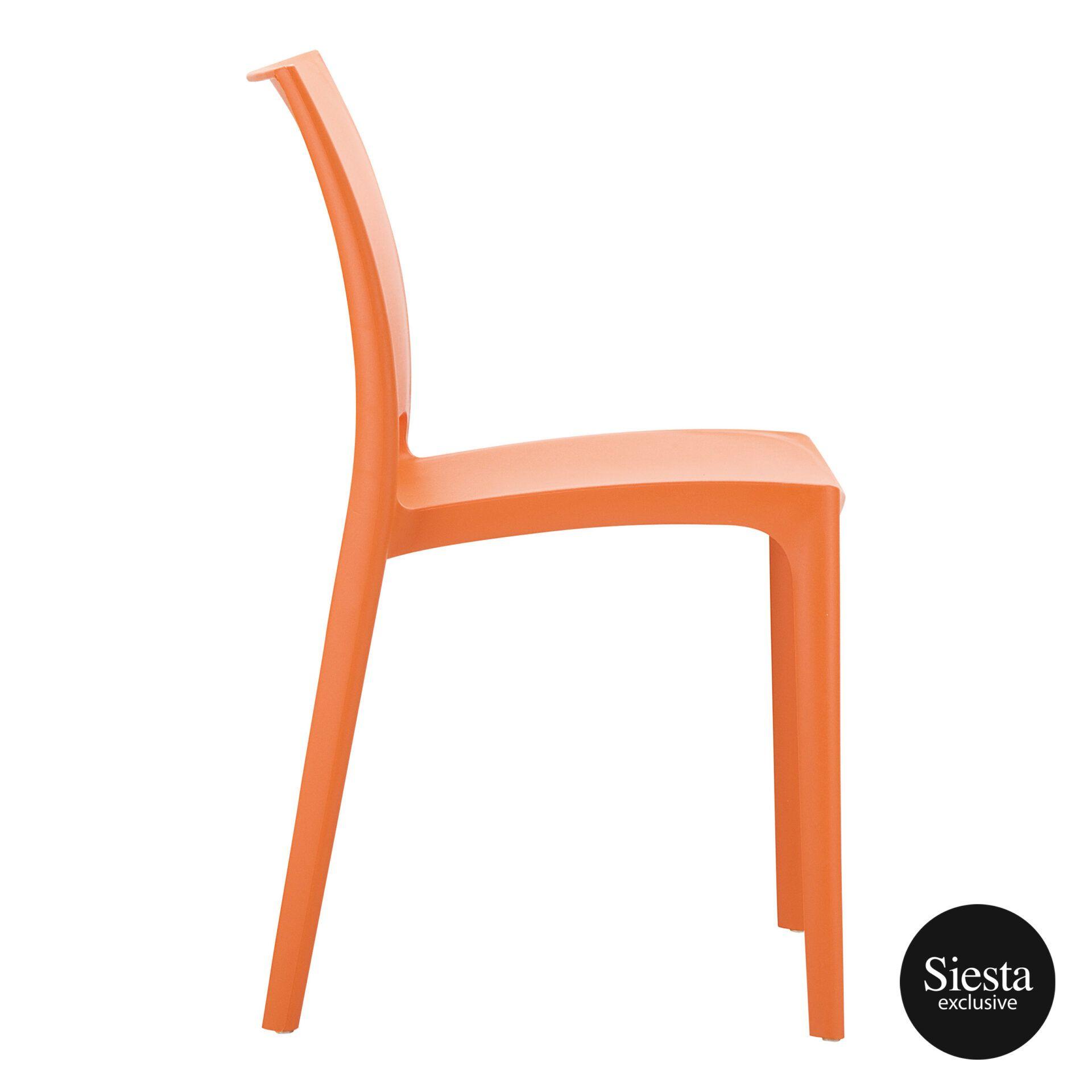outdoor dining maya chair orange side 1