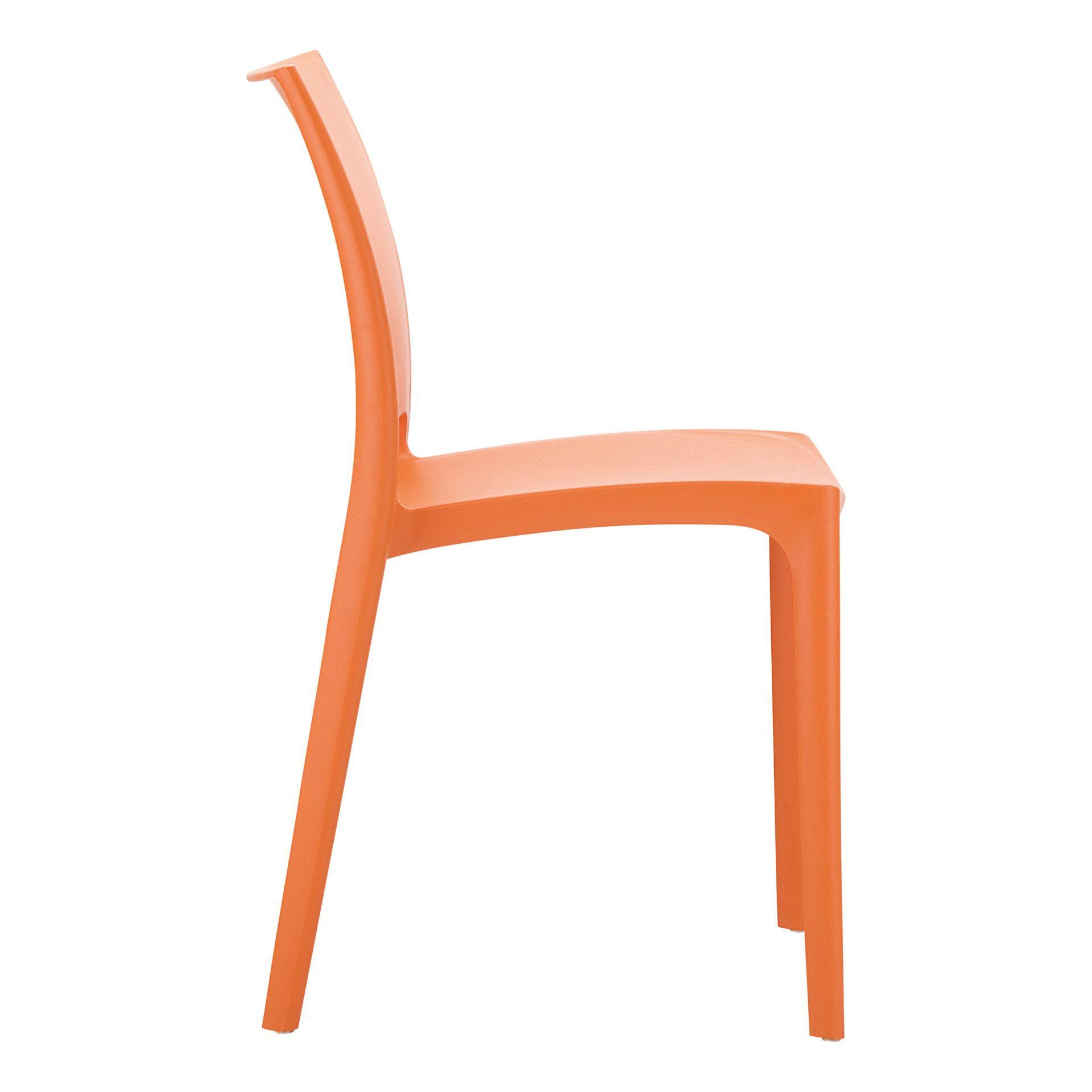 outdoor dining maya chair orange side