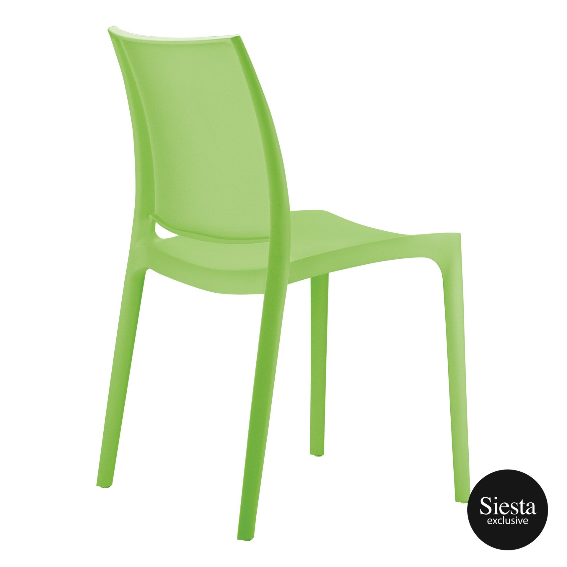 outdoor dining maya chair tropical green back side 1