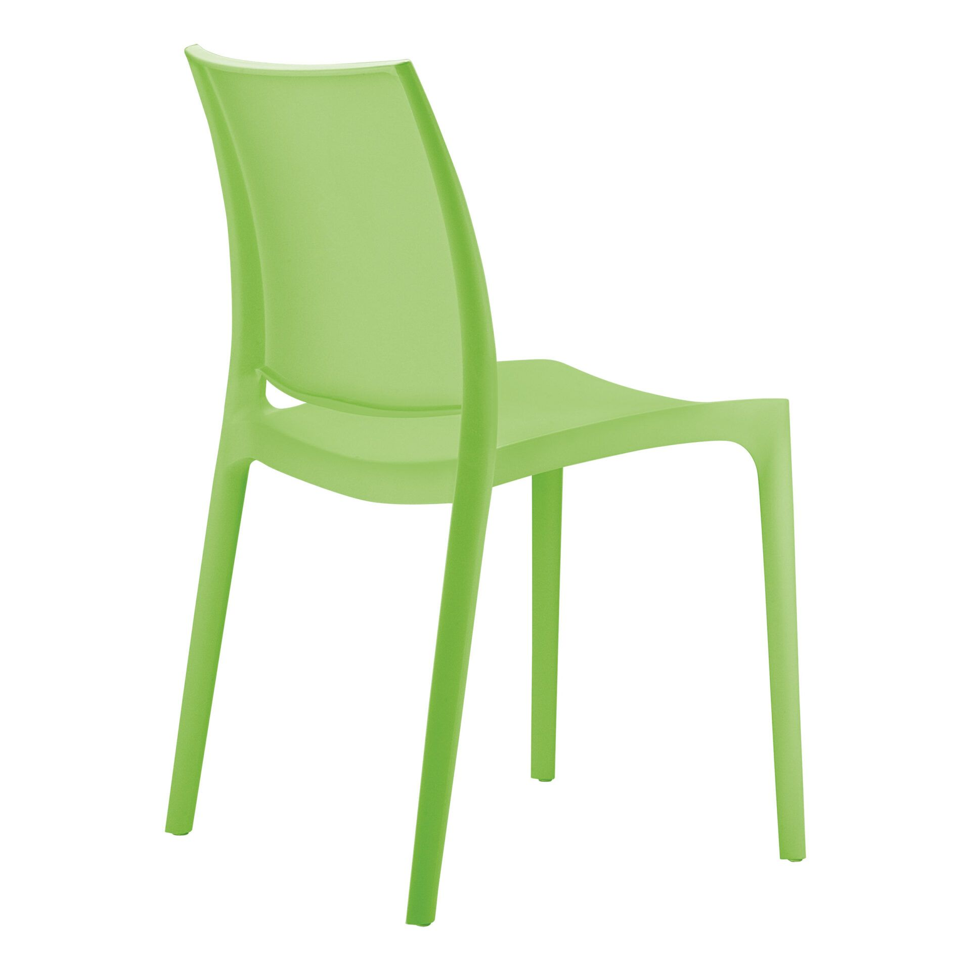 outdoor dining maya chair tropical green back side