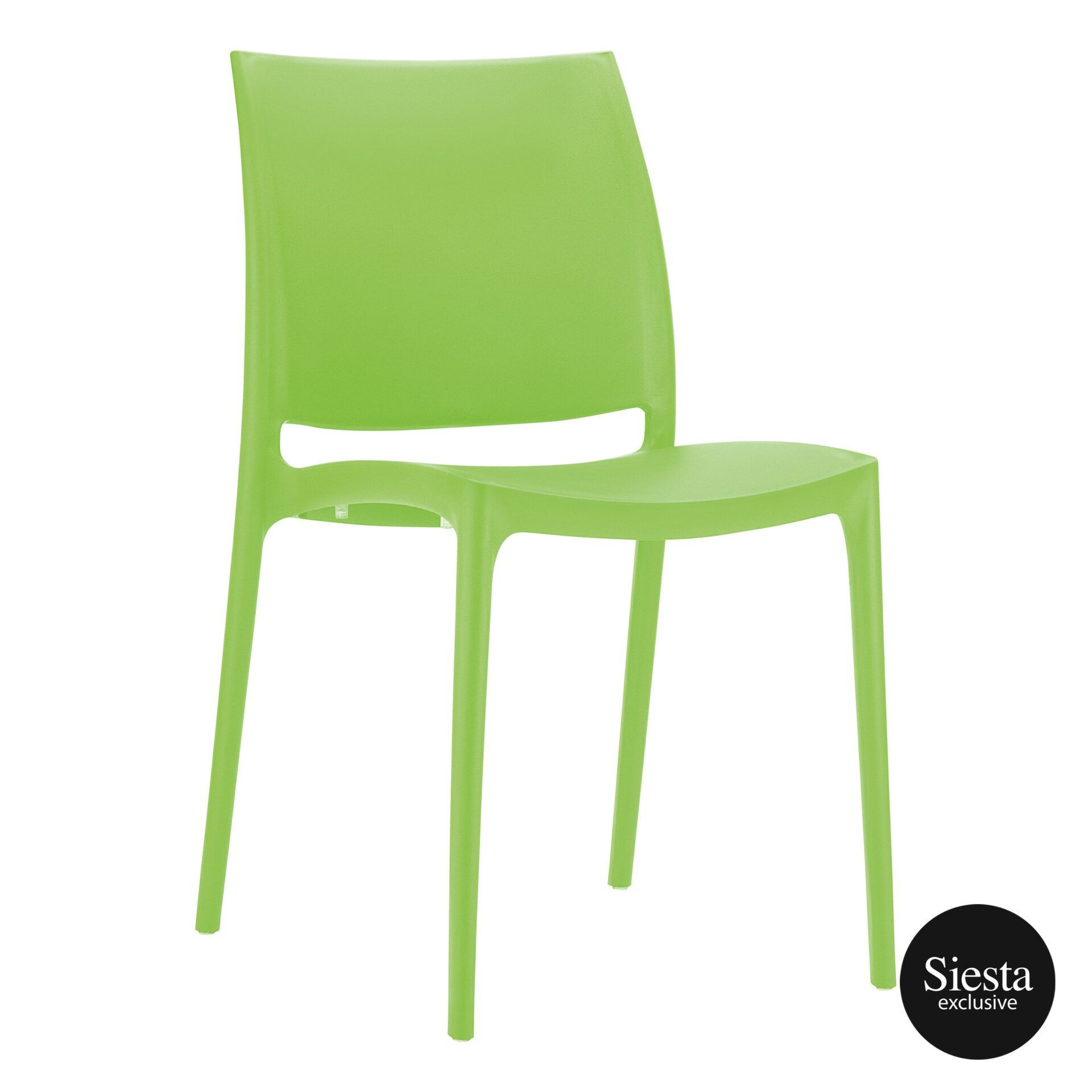 outdoor dining maya chair tropical green front side 1