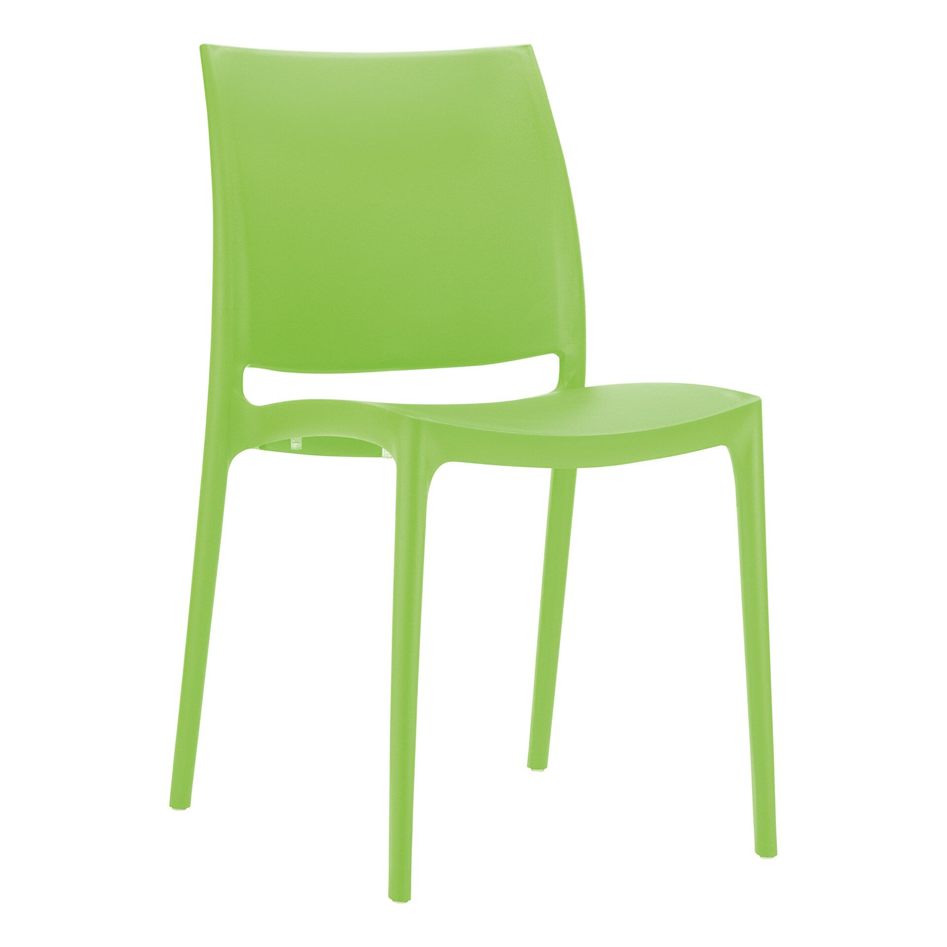 outdoor dining maya chair tropical green front side
