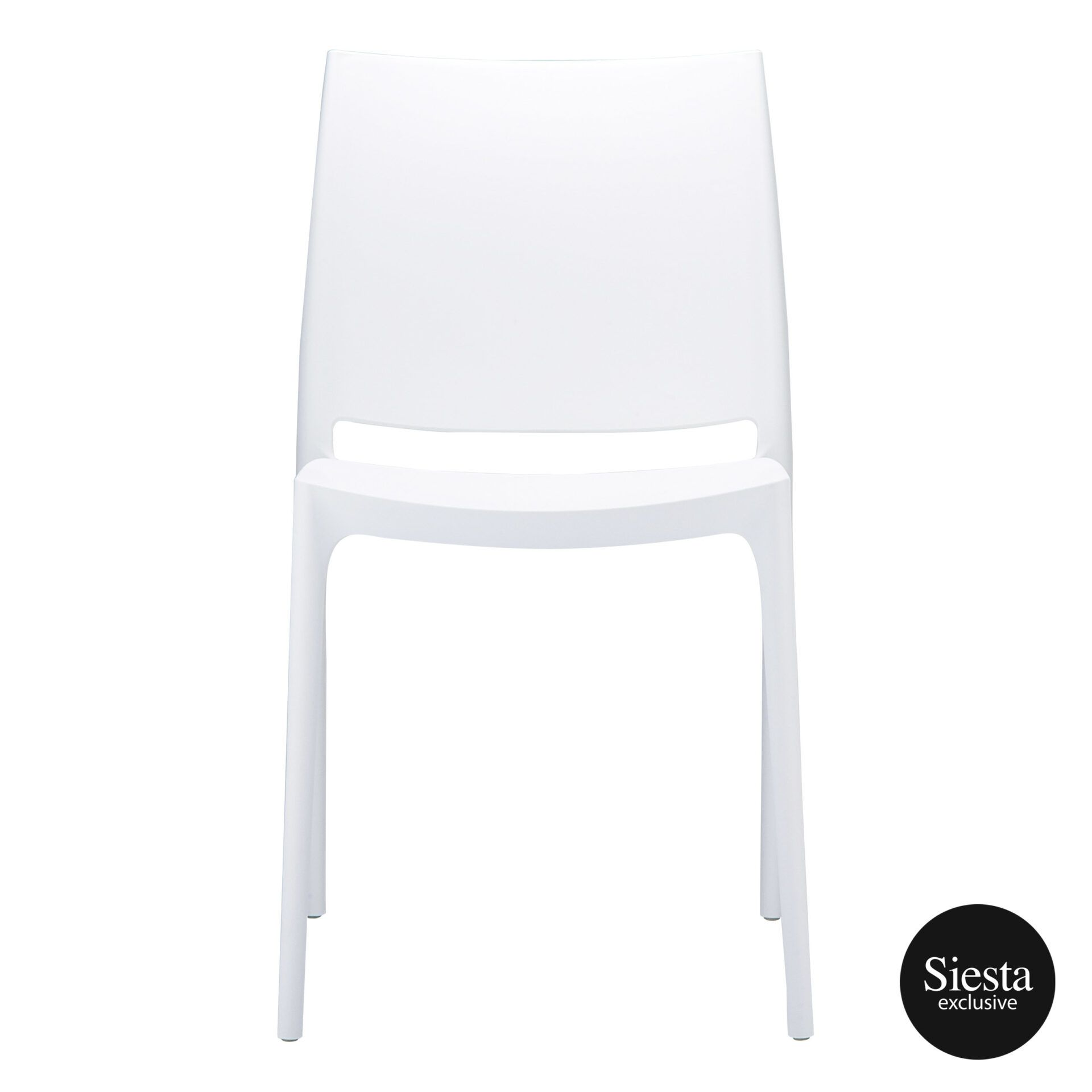 outdoor dining maya chair white front 1