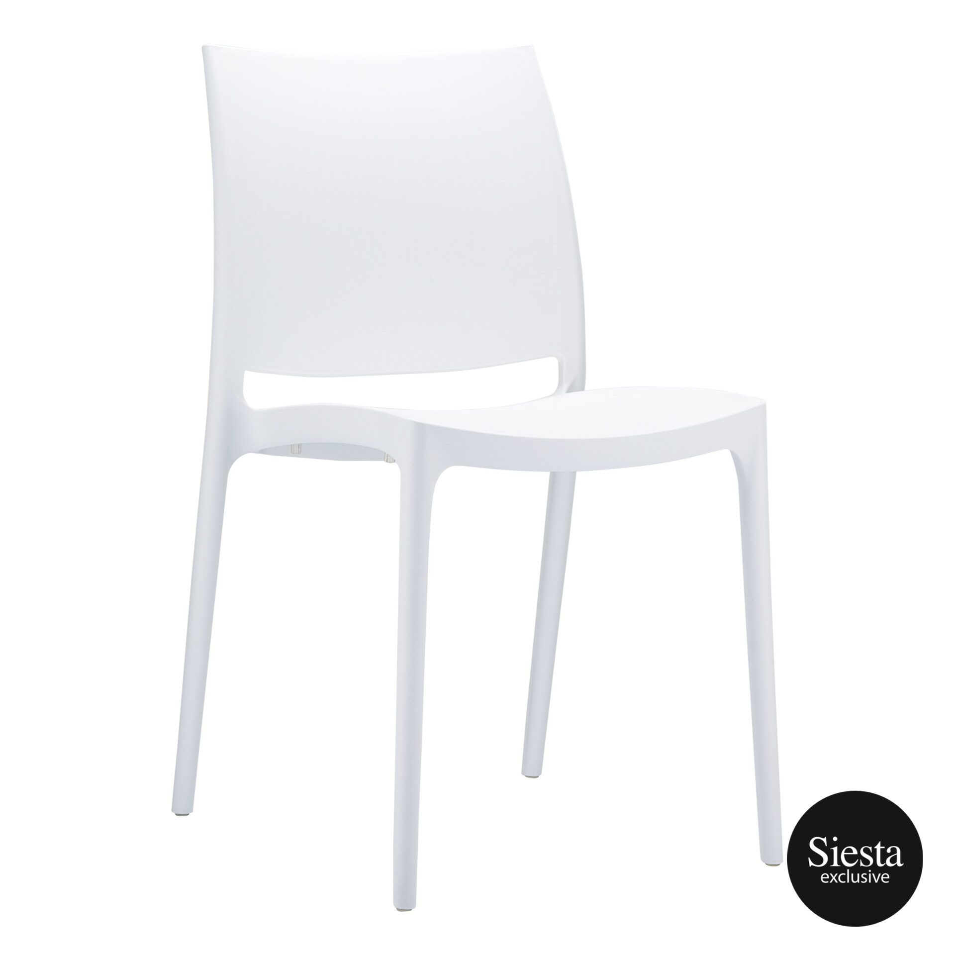 outdoor dining maya chair white front side 1