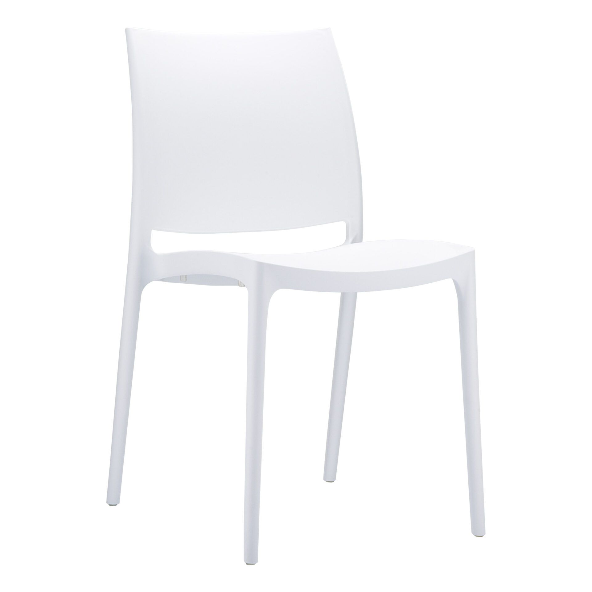 outdoor dining maya chair white front side