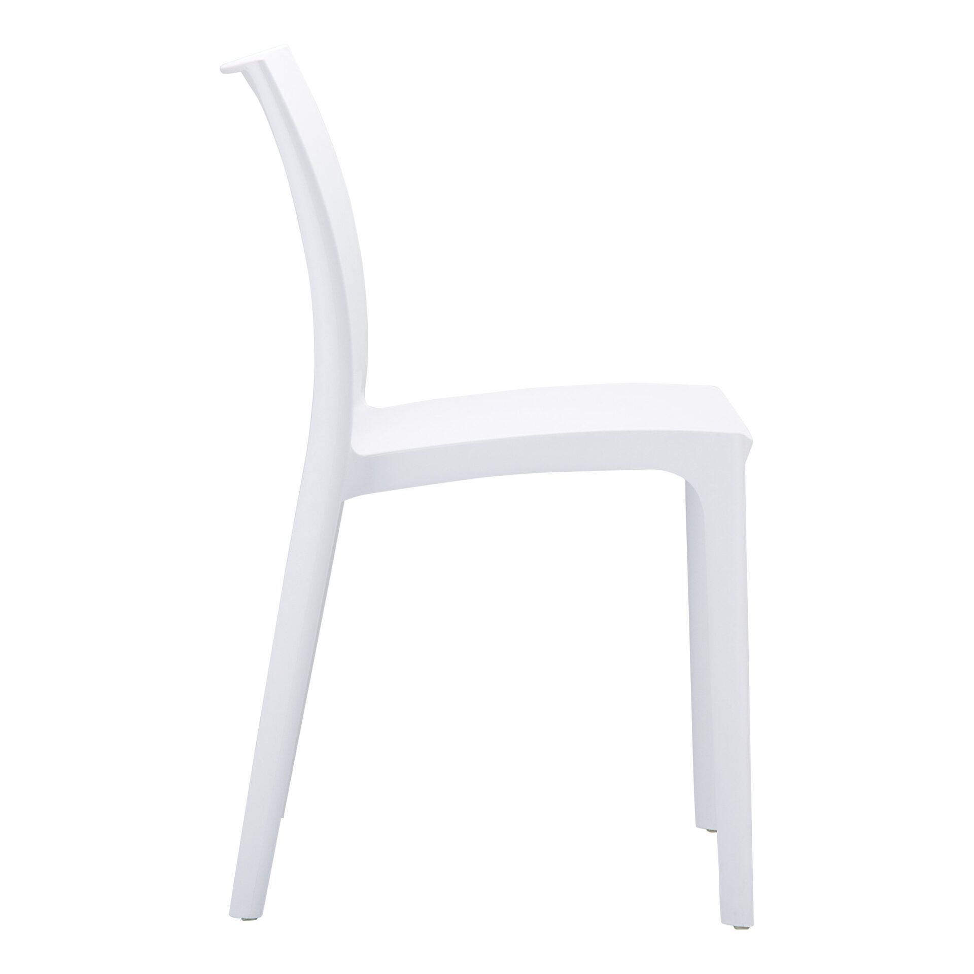 outdoor dining maya chair white side