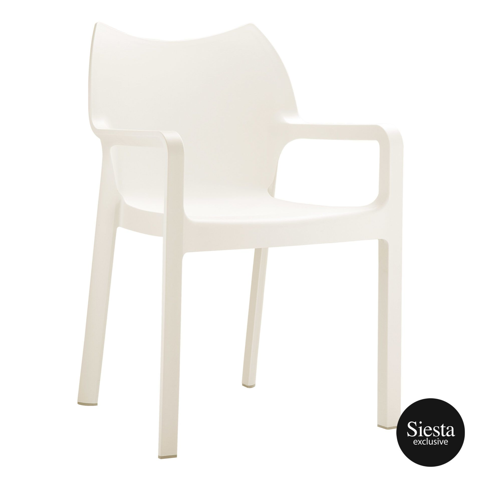 outdoor plastic seating diva chair beige front side 1