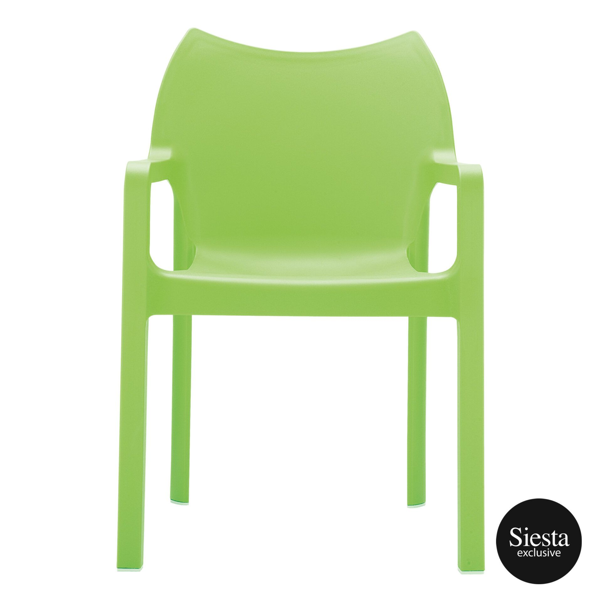 outdoor plastic seating diva chair tropical green front 1